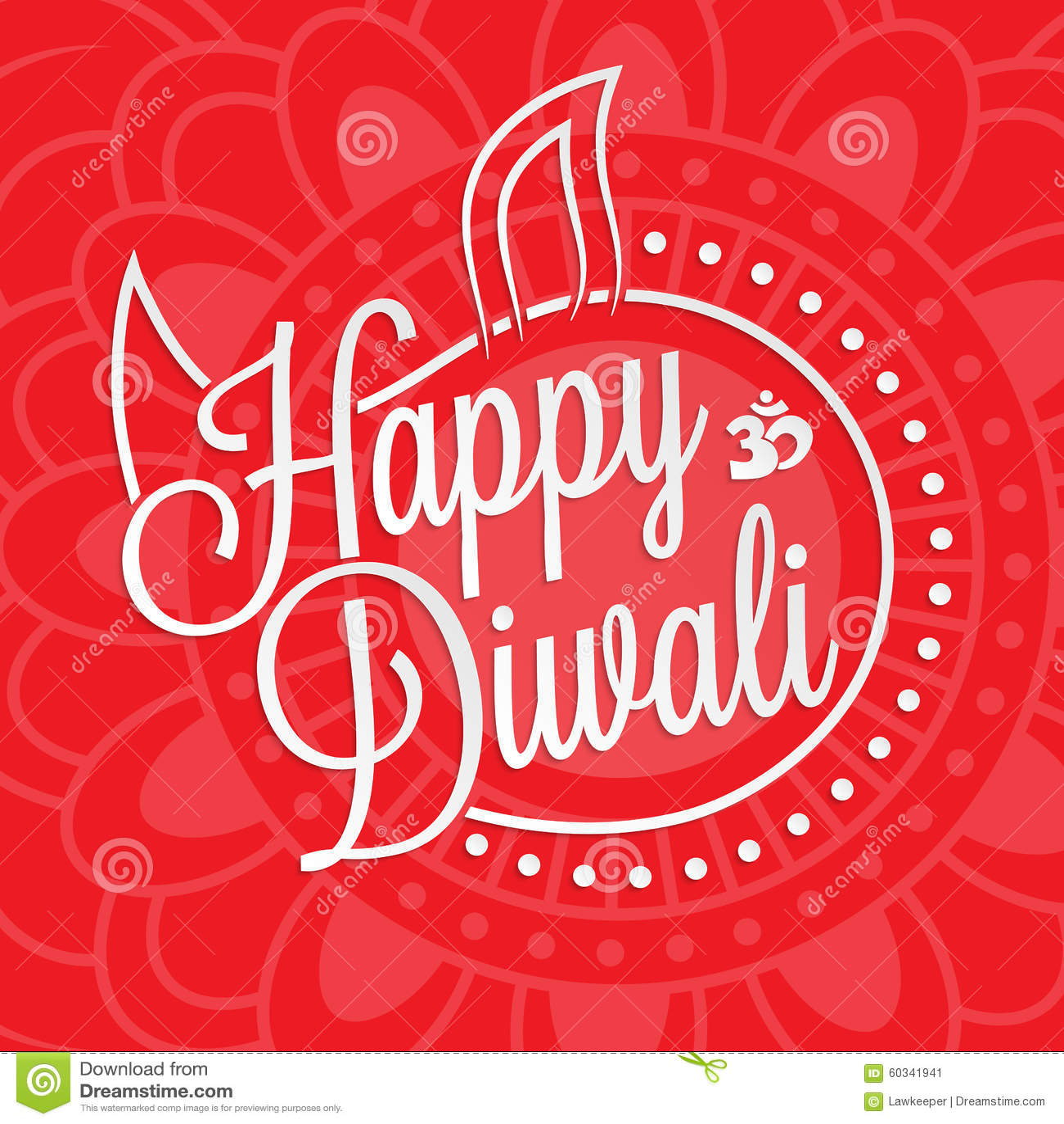 Happy divali festival of lights black calligraphy hand