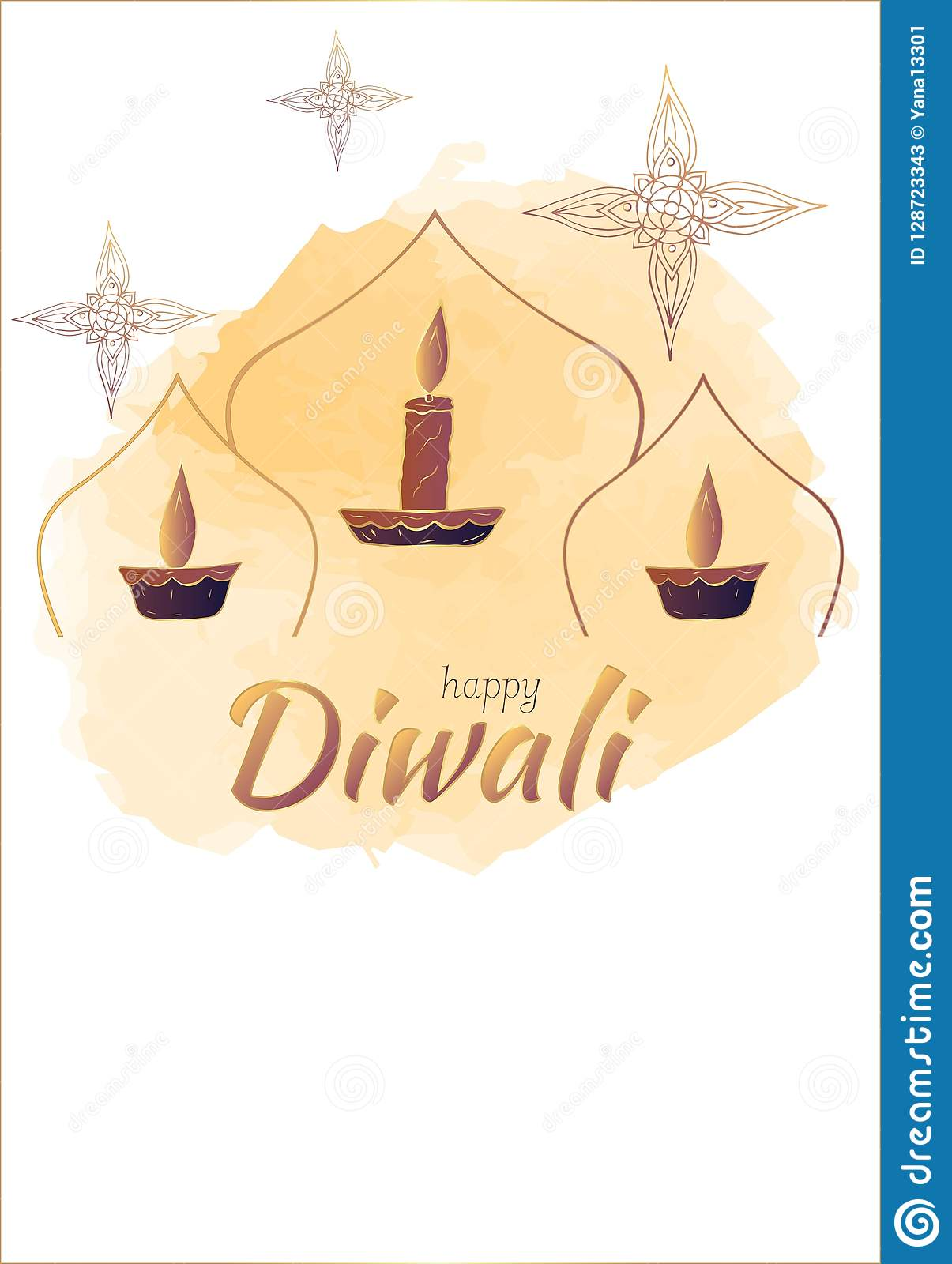 Happy diwali template for postcards stock vector illustration of happy diwali template for postcards m4hsunfo