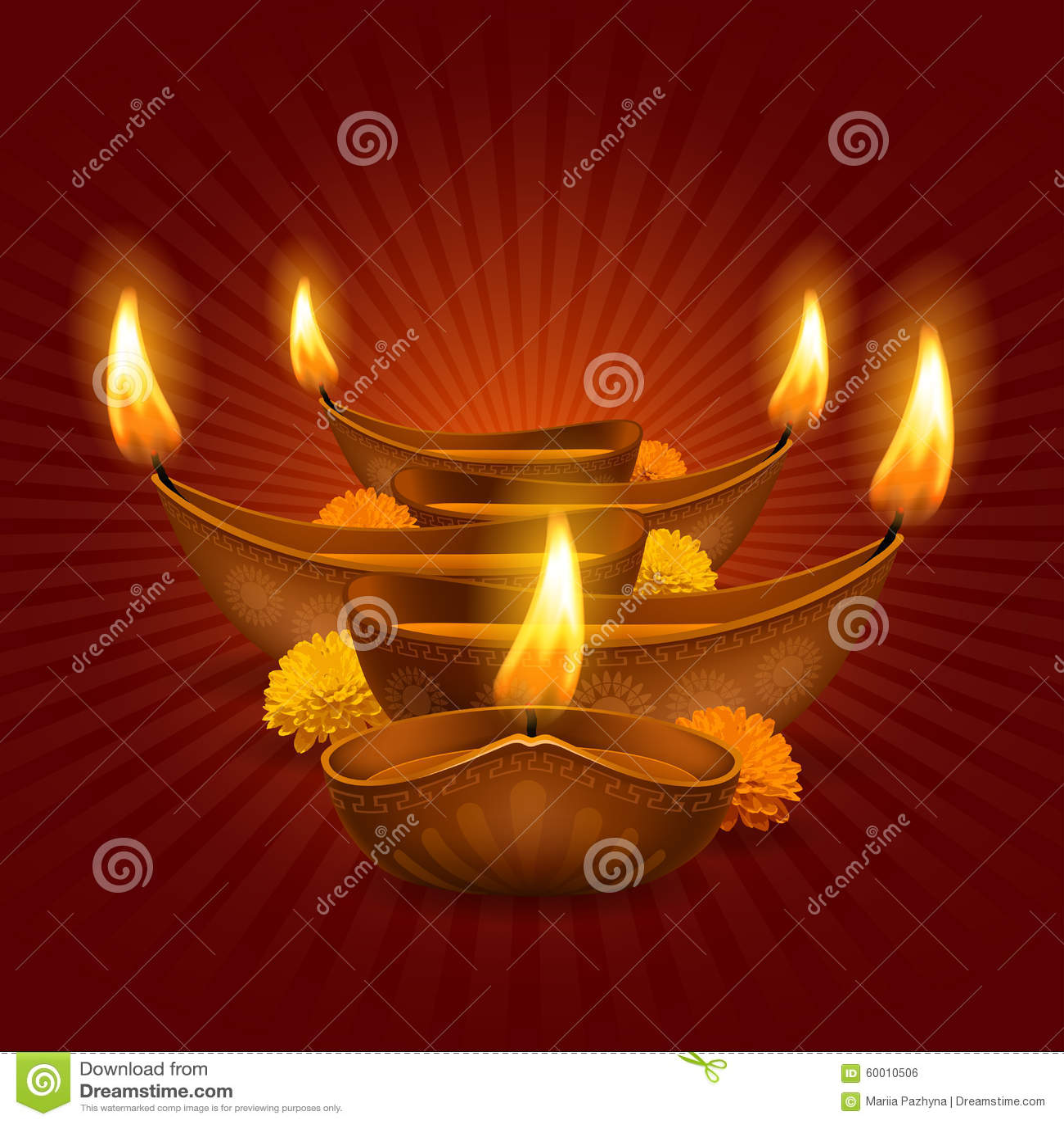 Animated Burning Lamp Oil : Happy diwali stock vector illustration of