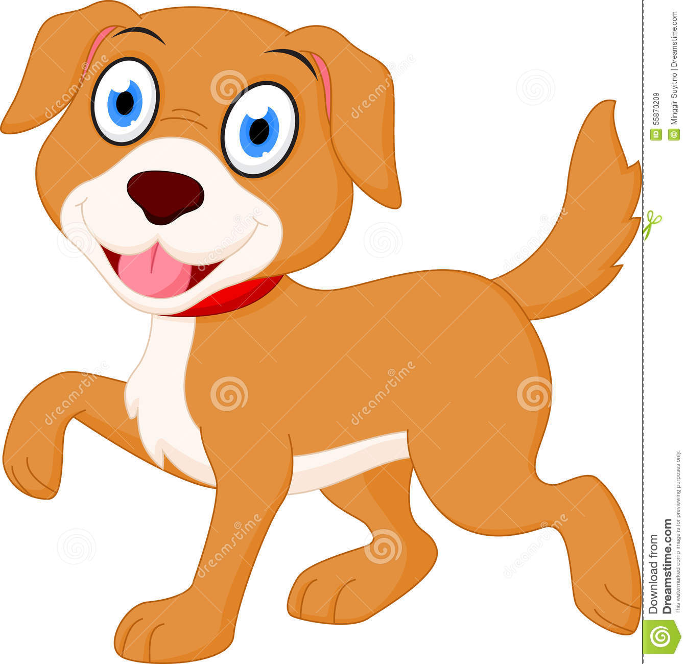 happy dog cartoon stock vector image 55870209 dog bone clipart to write in dog bone clipart pdf