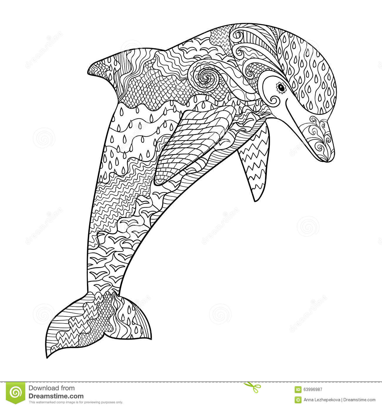 Happy Dolphin With High Details. Stock Vector - Image