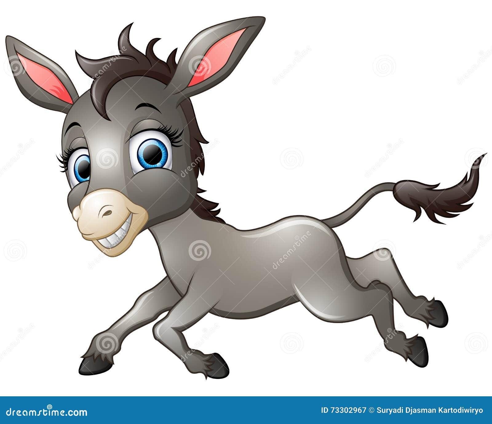 happy donkey cartoon running cartoon vector Donkey Clip Art Funny Jackass Clip Art