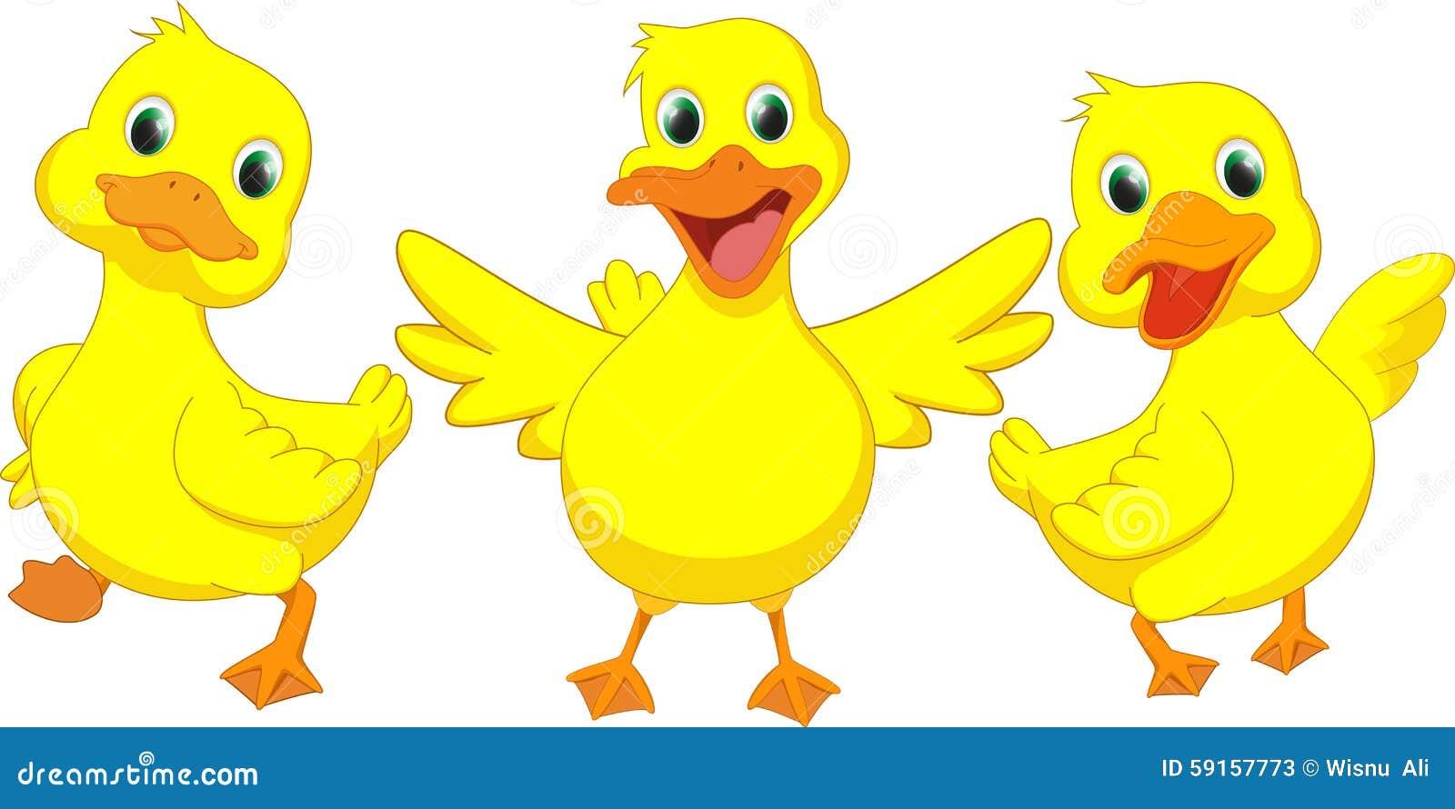 Happy Duck Cartoon Stock Vector - Image: 59157773