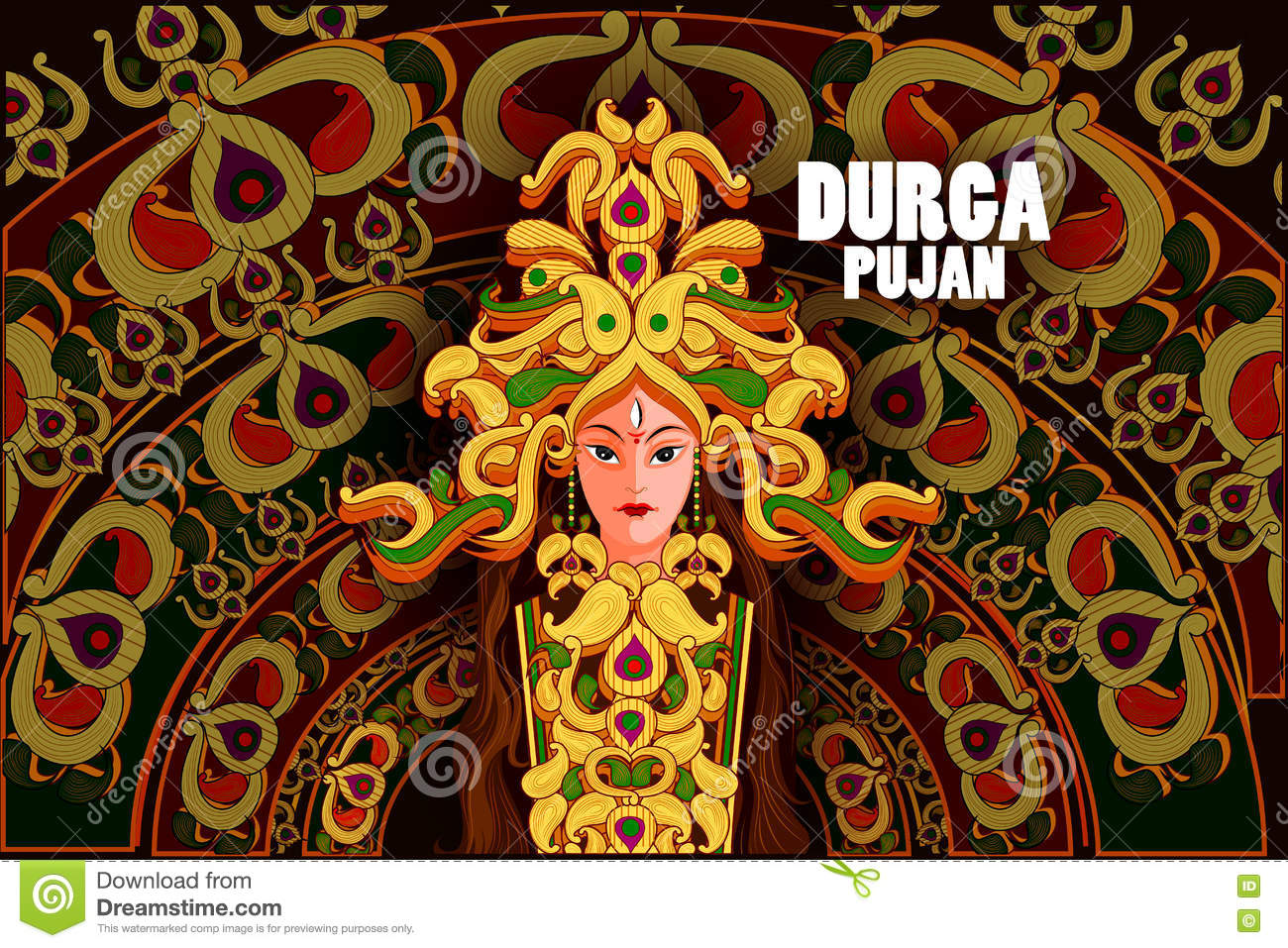 durga puja festival holidays Download royalty-free happy durga puja festival india holiday background  vector illustration stock vector 167116704 from depositphotos.