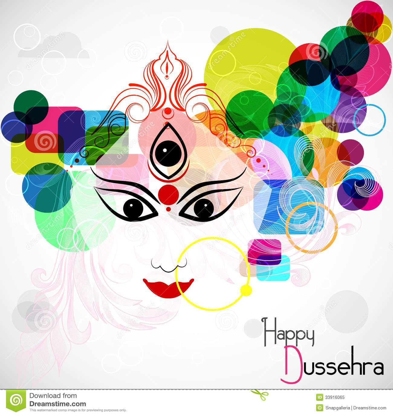 Happy Dussehra Cartoon Vector  CartoonDealer.com 33916065