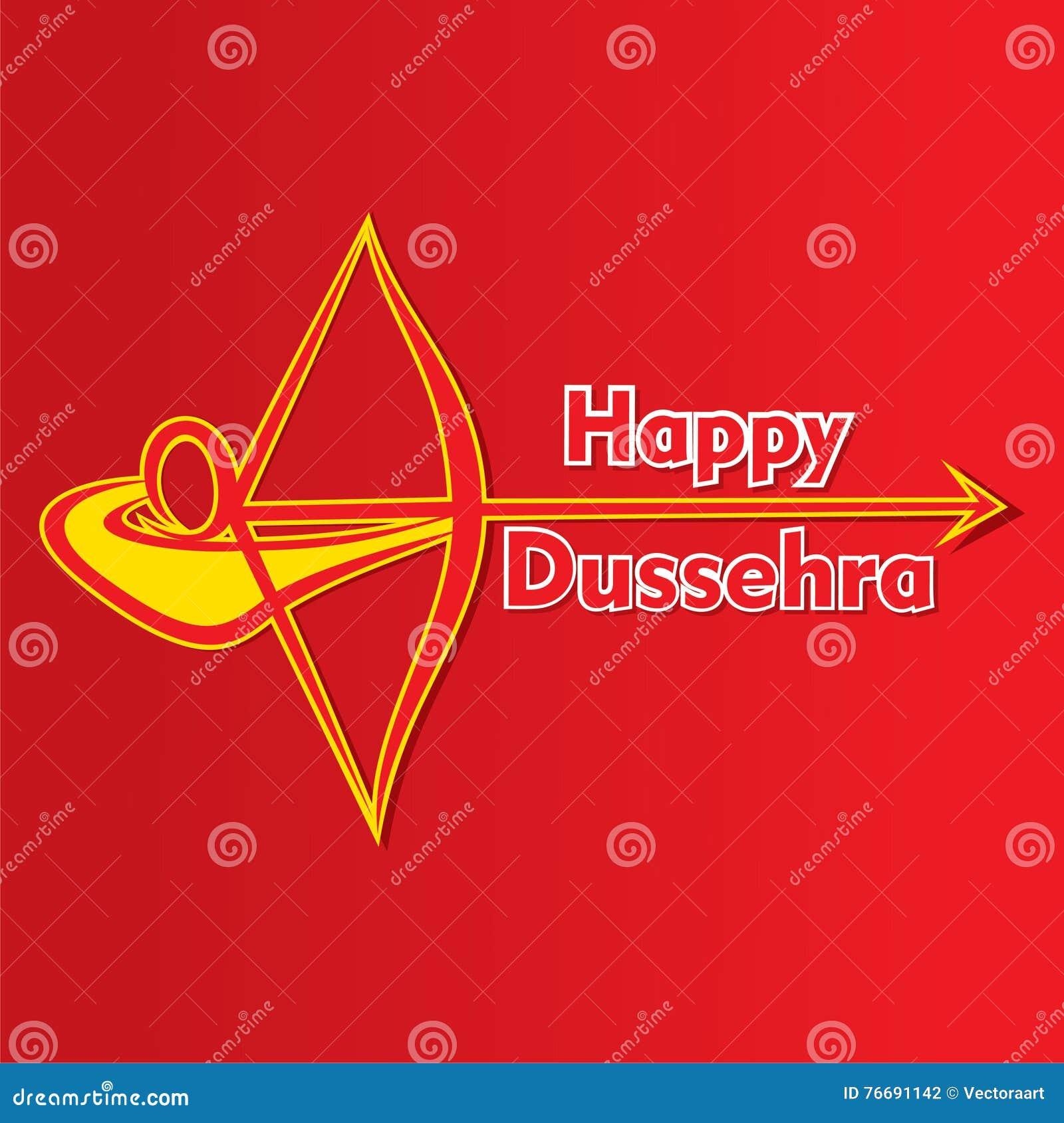 Happy Dussehra Greeting Card Design Stock Vector Illustration Of