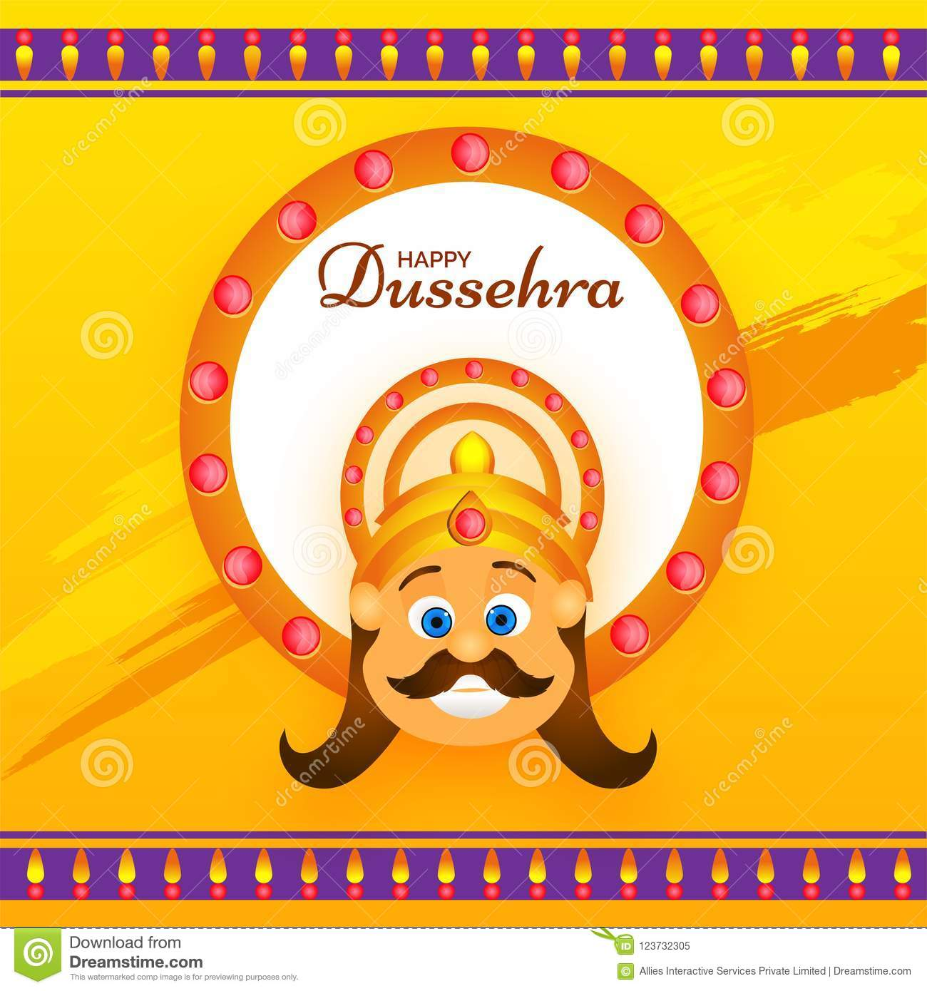 Happy dussehra greeting card design with illustration of demon r download happy dussehra greeting card design with illustration of demon r stock illustration illustration of m4hsunfo