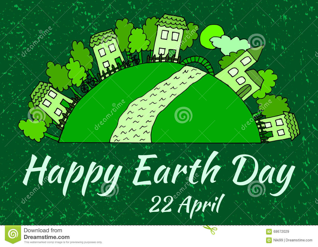 the earth is our home vector earth day poster stock vector