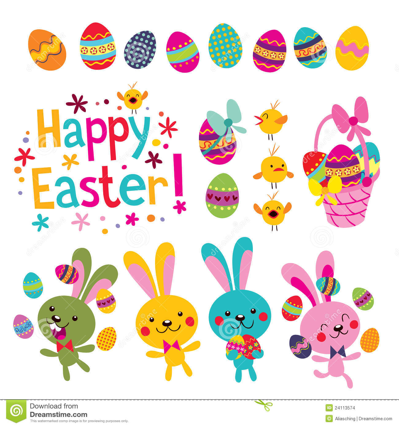 Happy Easter Stock Images - Image: 24113574