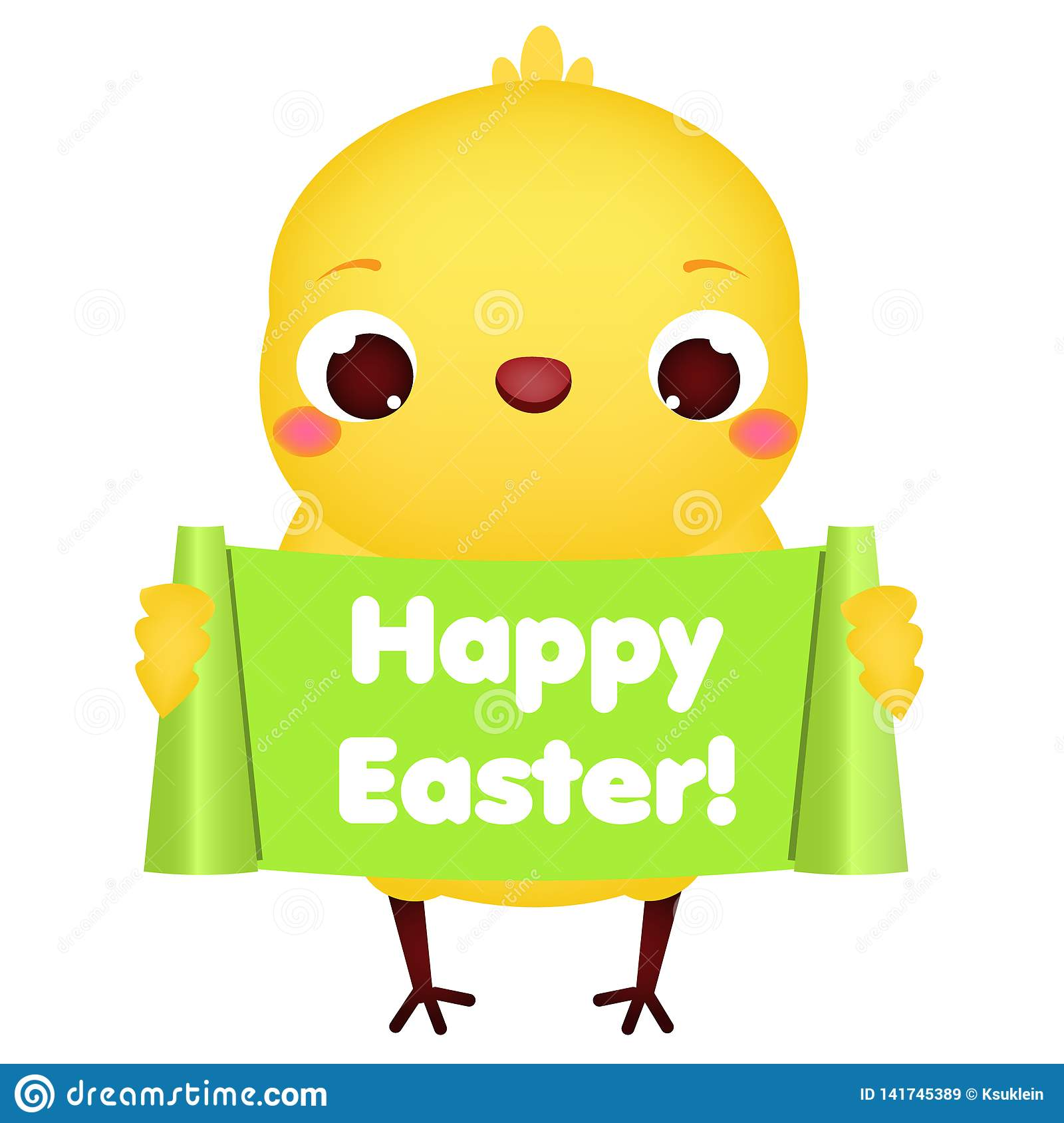 Easter Baby Chick Clip Art