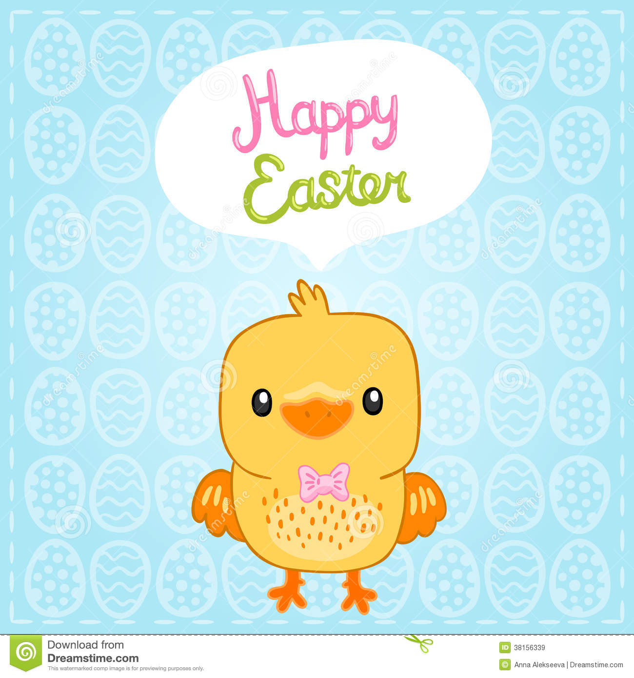 happy easter background with cartoon cute basket royalty free