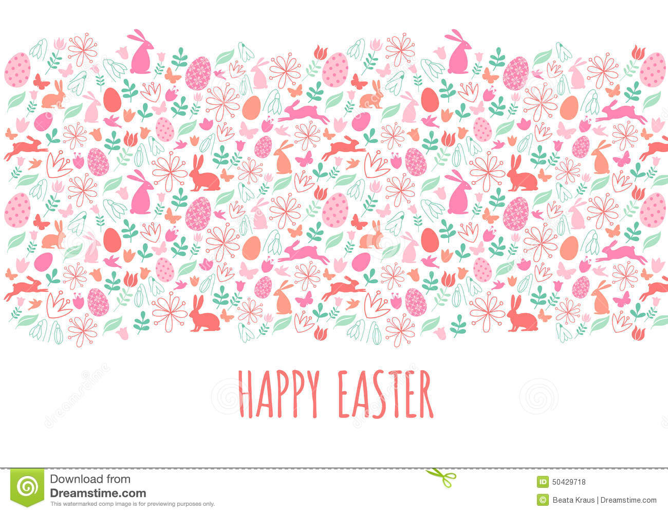 Happy Easter Banner, Vector Stock Vector