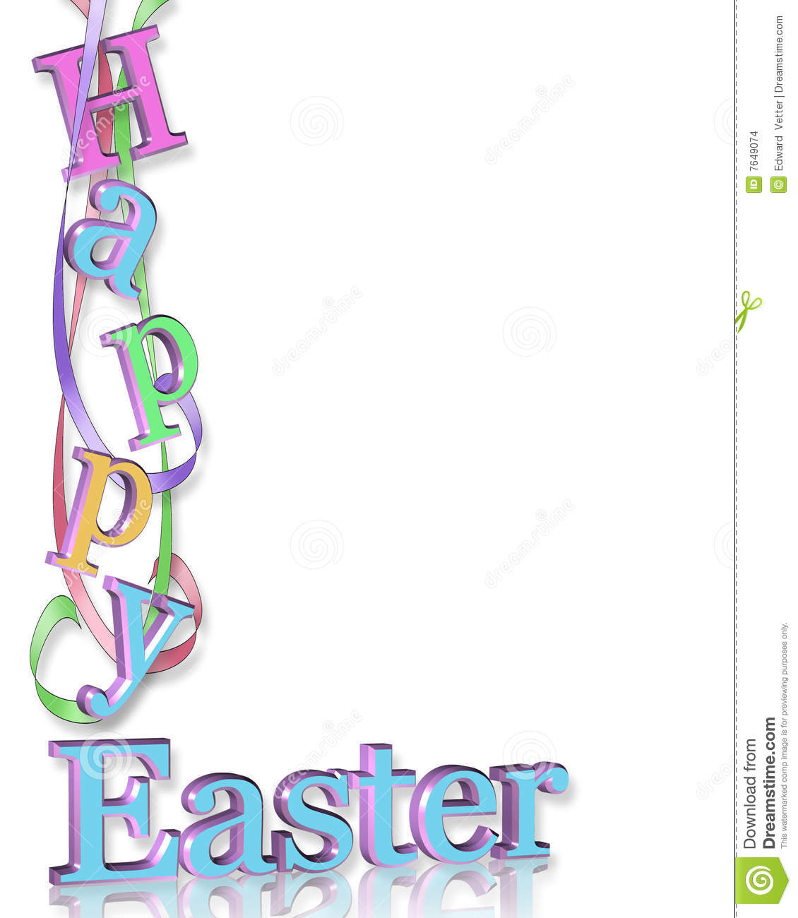 Happy Easter Border stock illustration. Illustration of ...