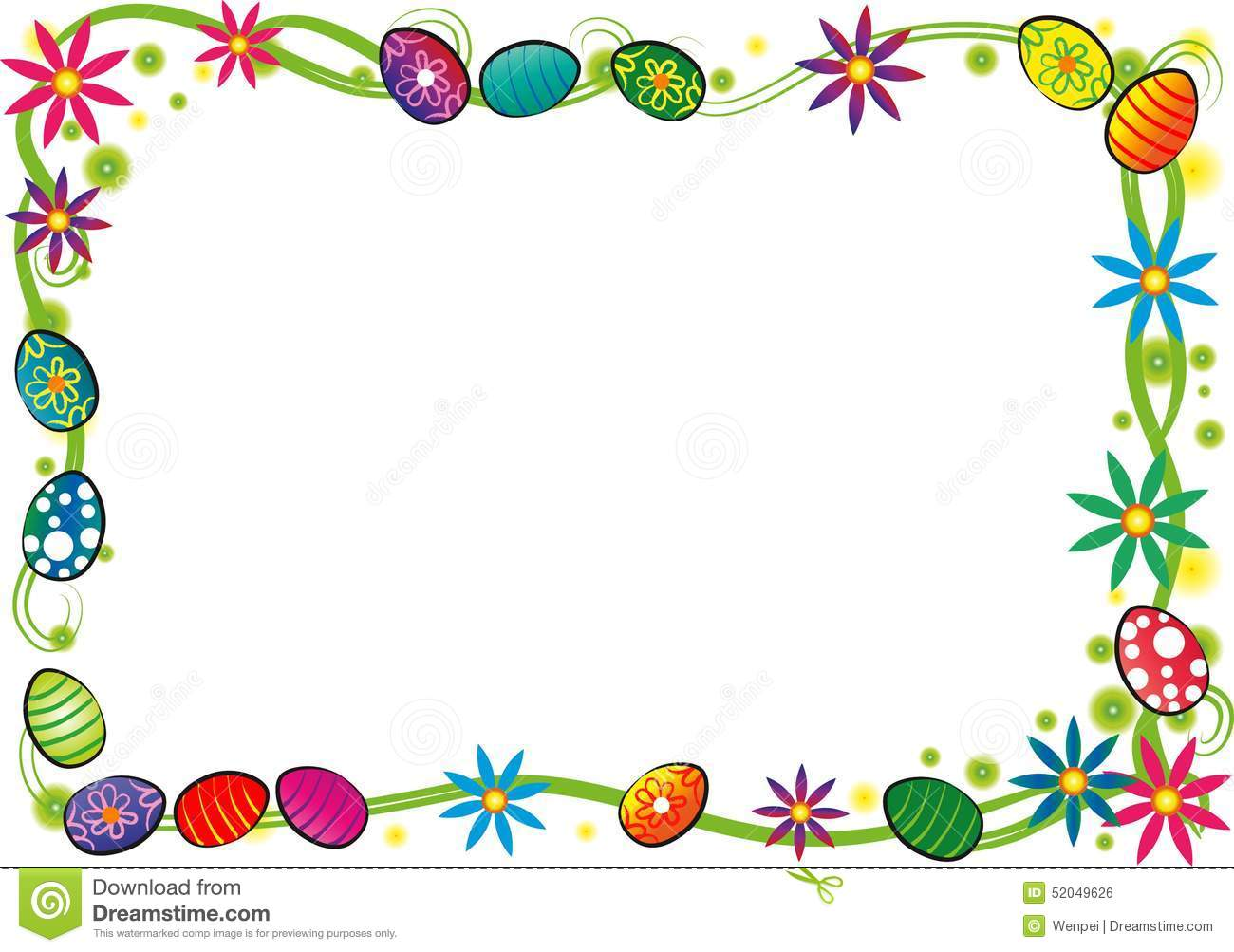 Happy Easter Border Royalty Free Stock Image - Image: 23058506
