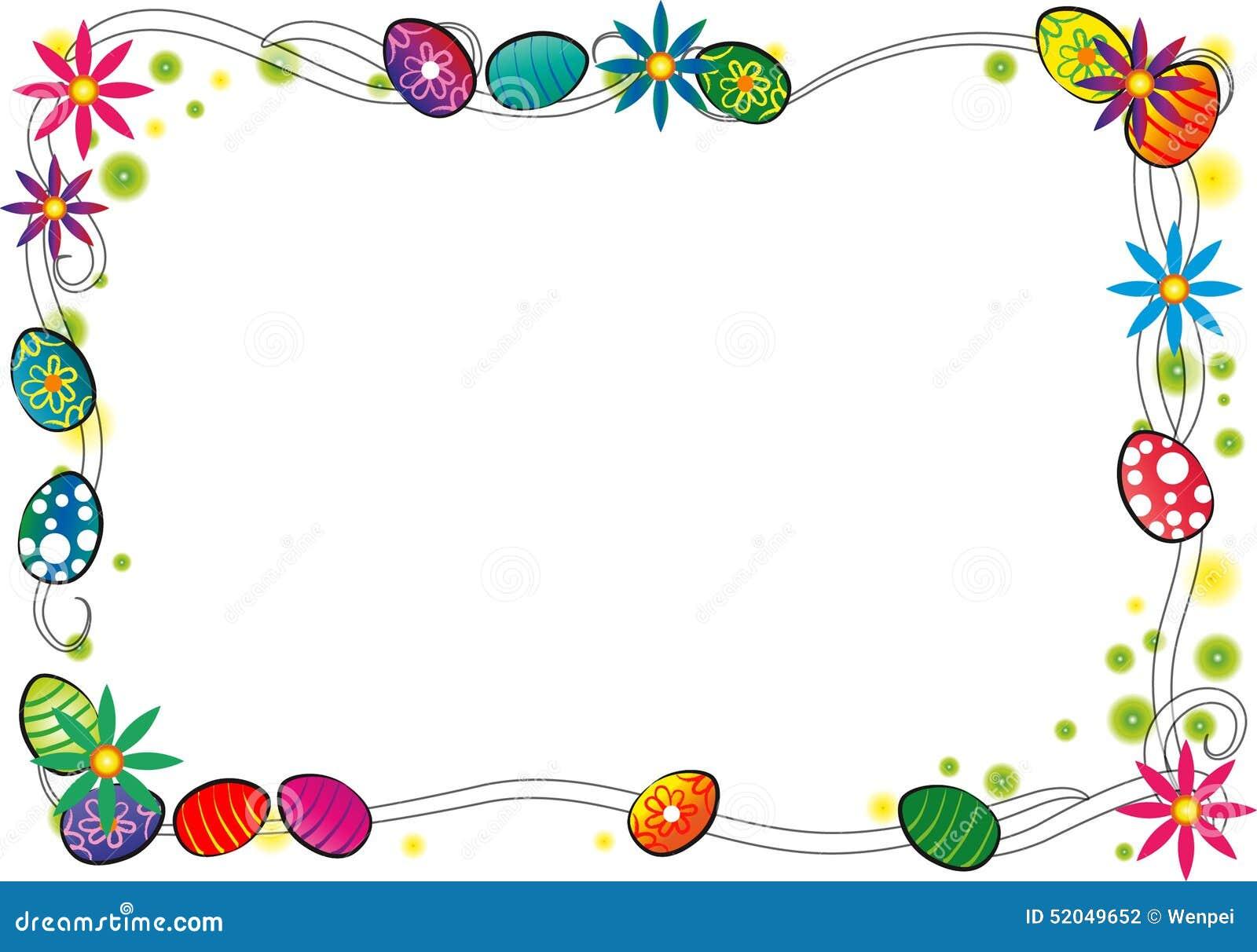happy easter border stock illustration image 52049652