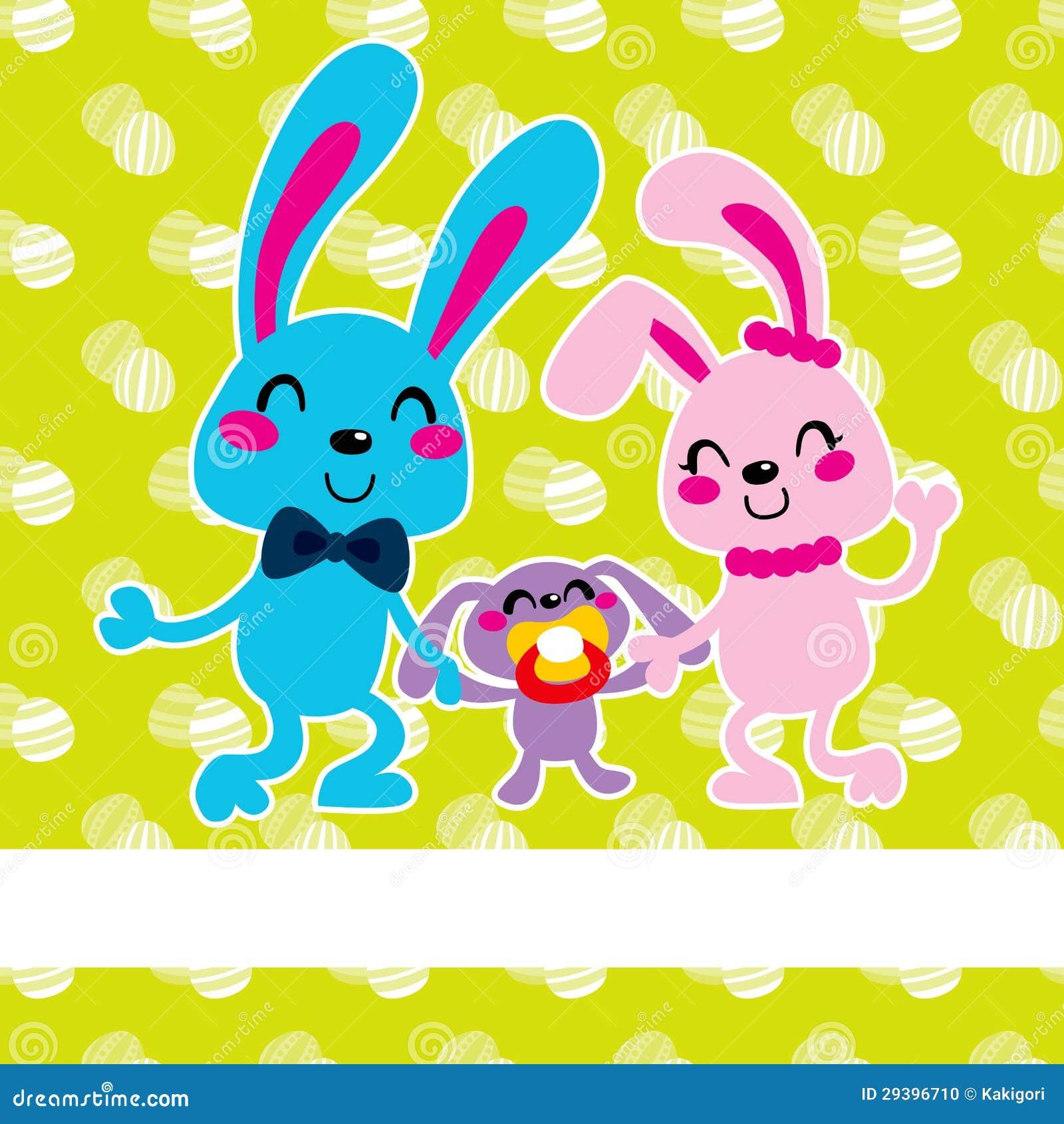 happy easter bunny family stock photo image 29396710