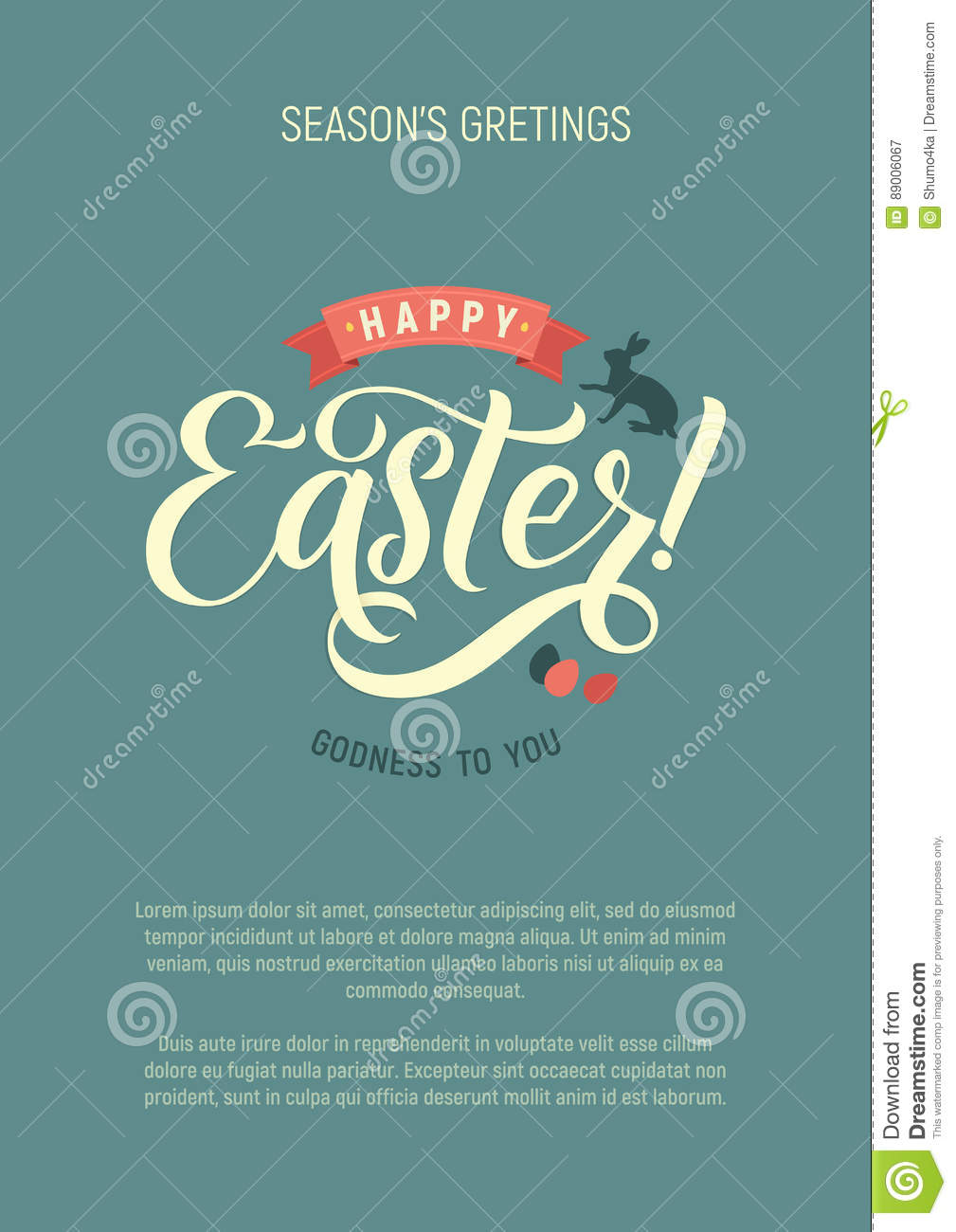 Happy Easter Calligraphy Greeting Card Modern Brush Lettering
