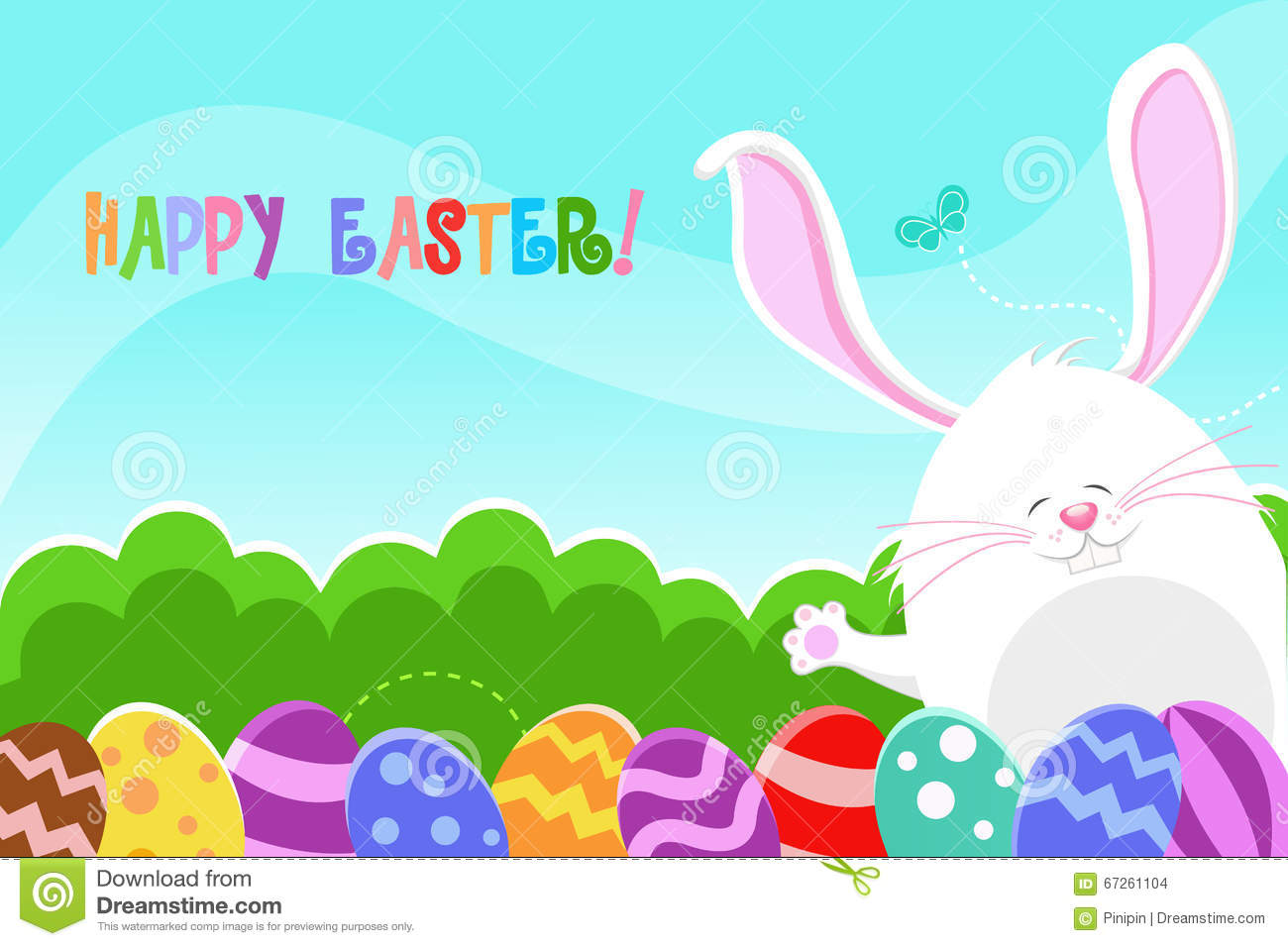 Happy Easter Card Stock Vector Illustration Of Baby 67261104