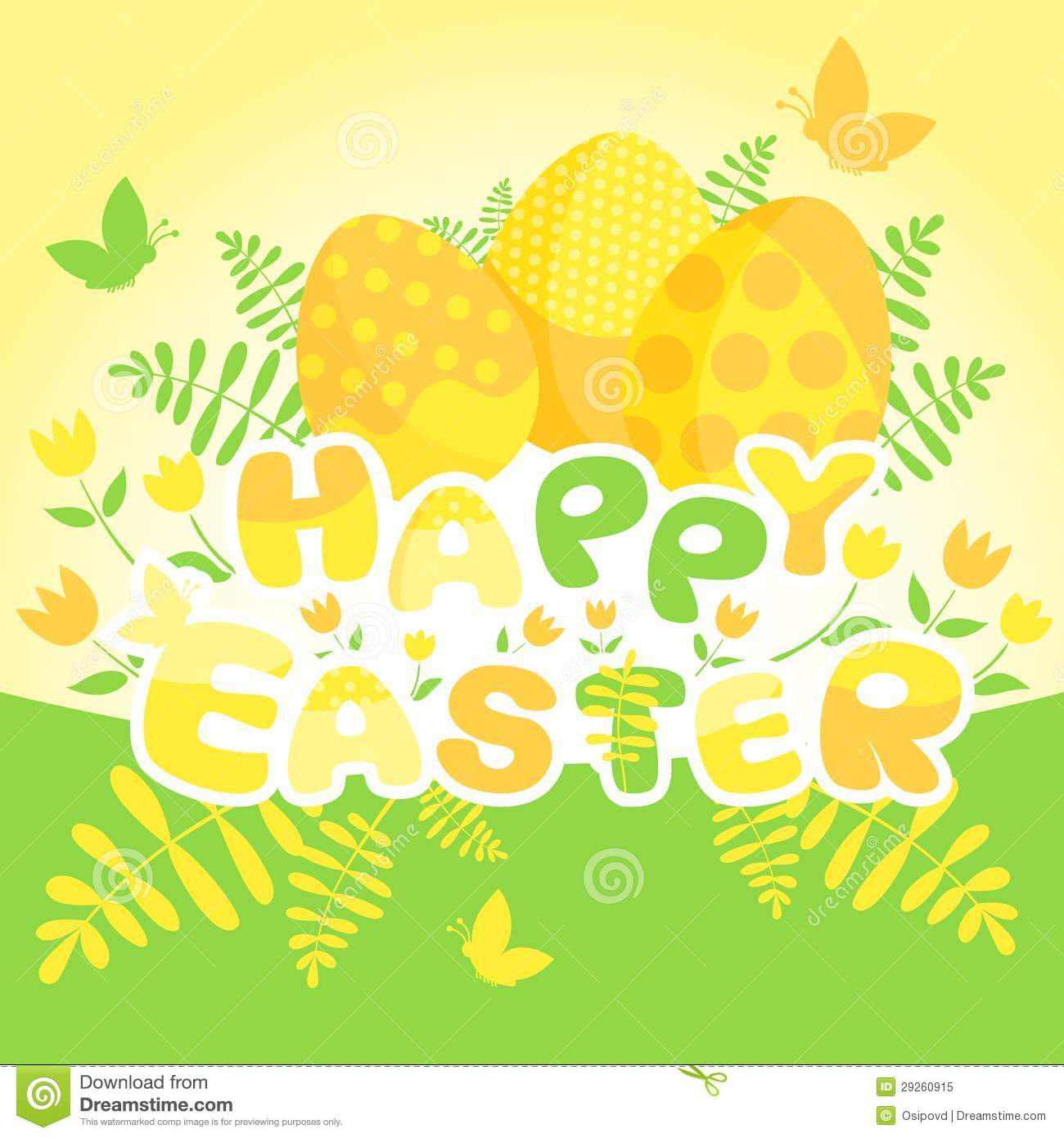 Happy Easter Card Template Royalty Free Stock Photo ...