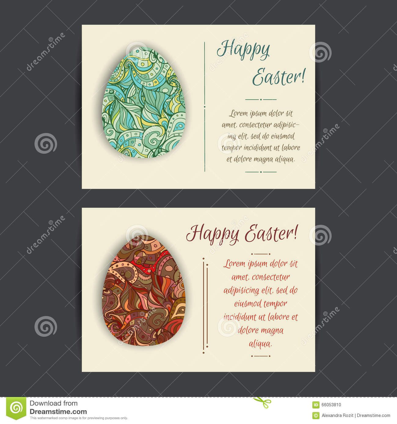 happy easter card templates stock vector illustration of company