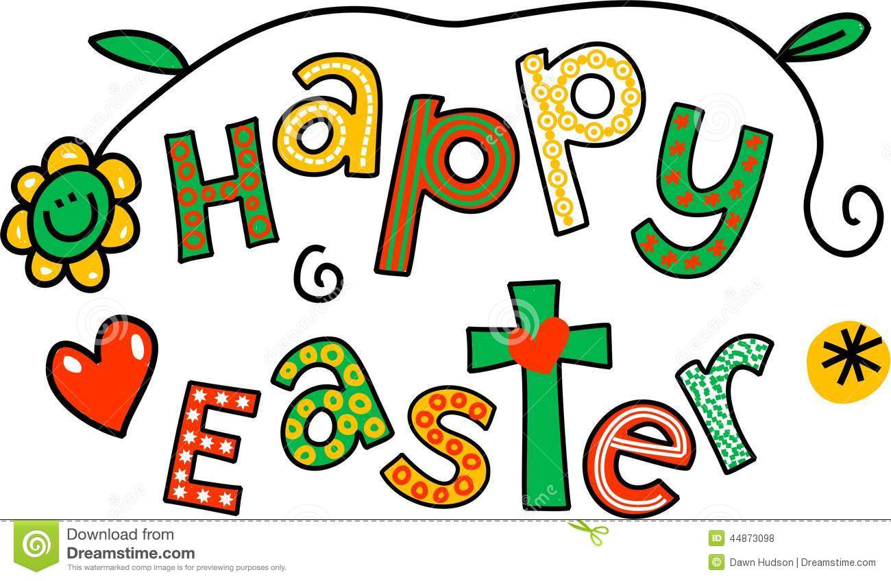 happy easter clip art stock illustration image 44873098
