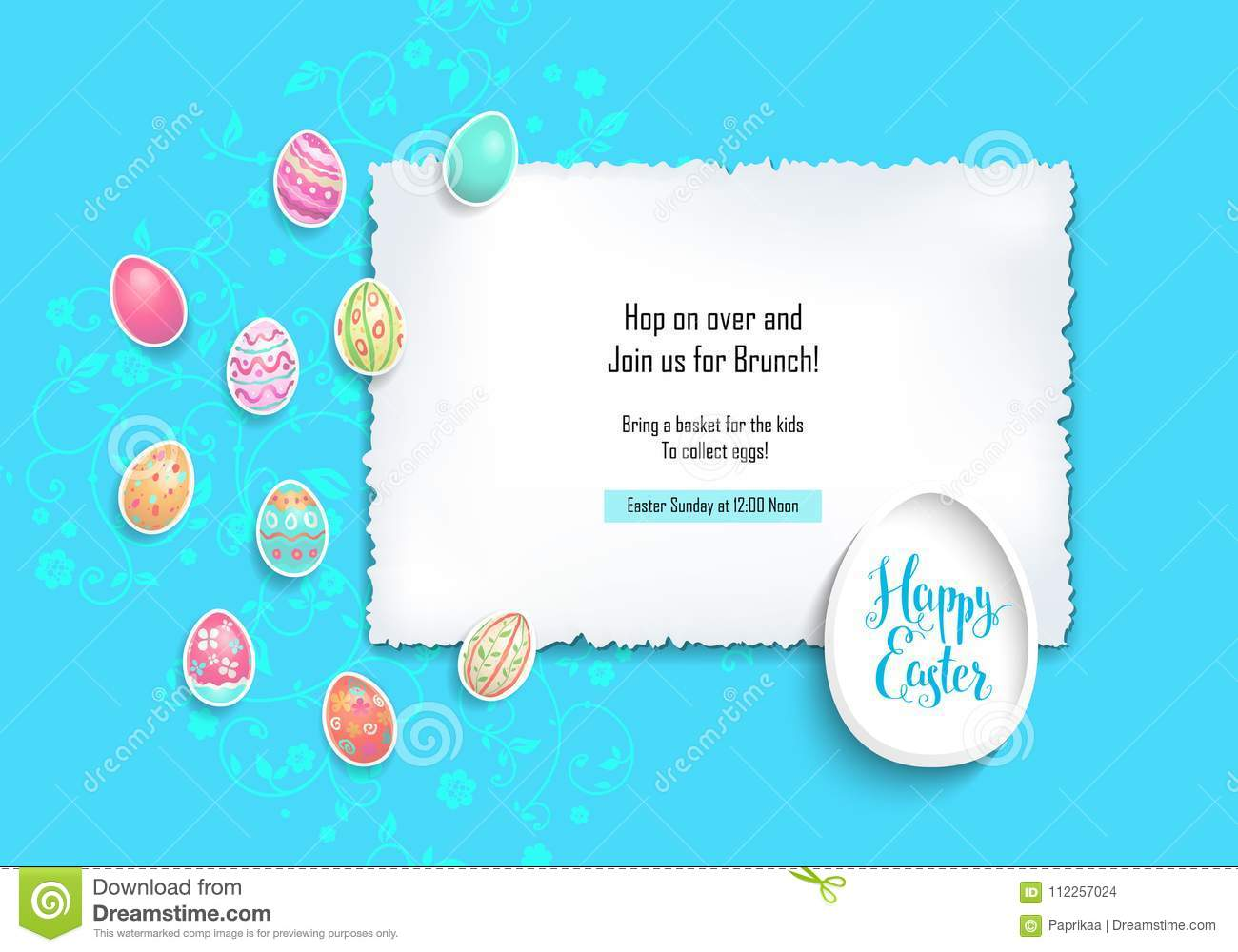 Blue Card Easter Stock Vector Illustration Of Card 112257024