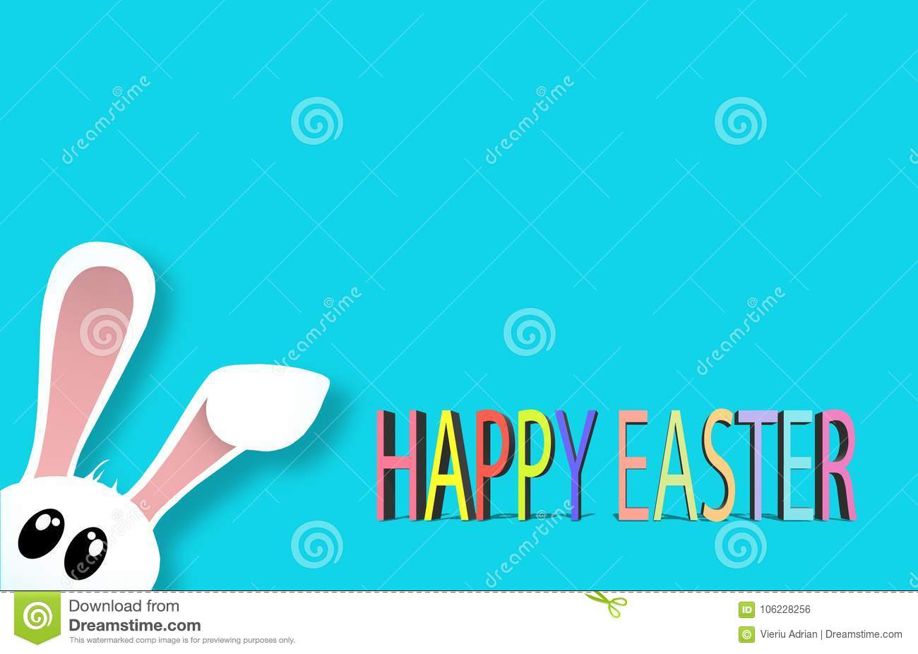 Happy Easter Colorful eggs Religion background holiday