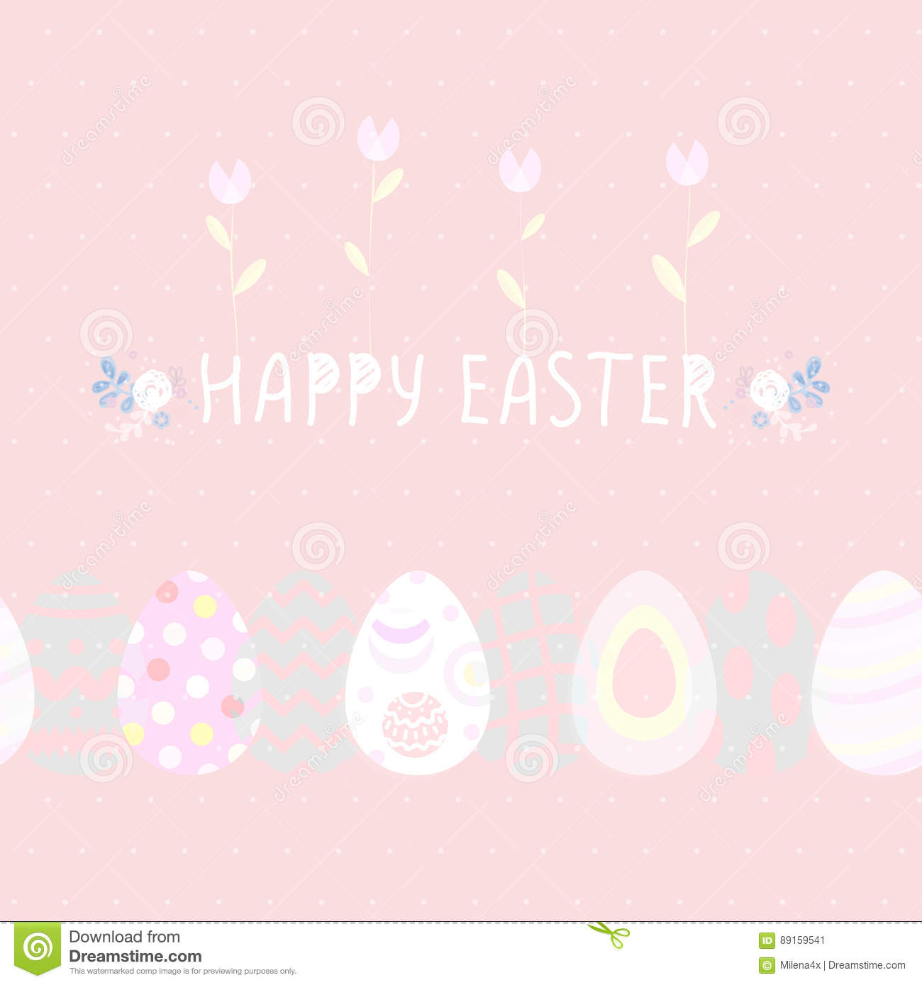 happy easter cute poster eggs flowers vector illustration happy easter cute poster eggs flowers vector illustration flyers