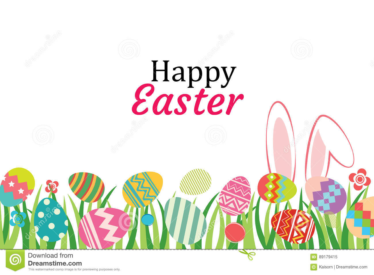 Happy Easter Egg Background Template.Can Be Used For ...