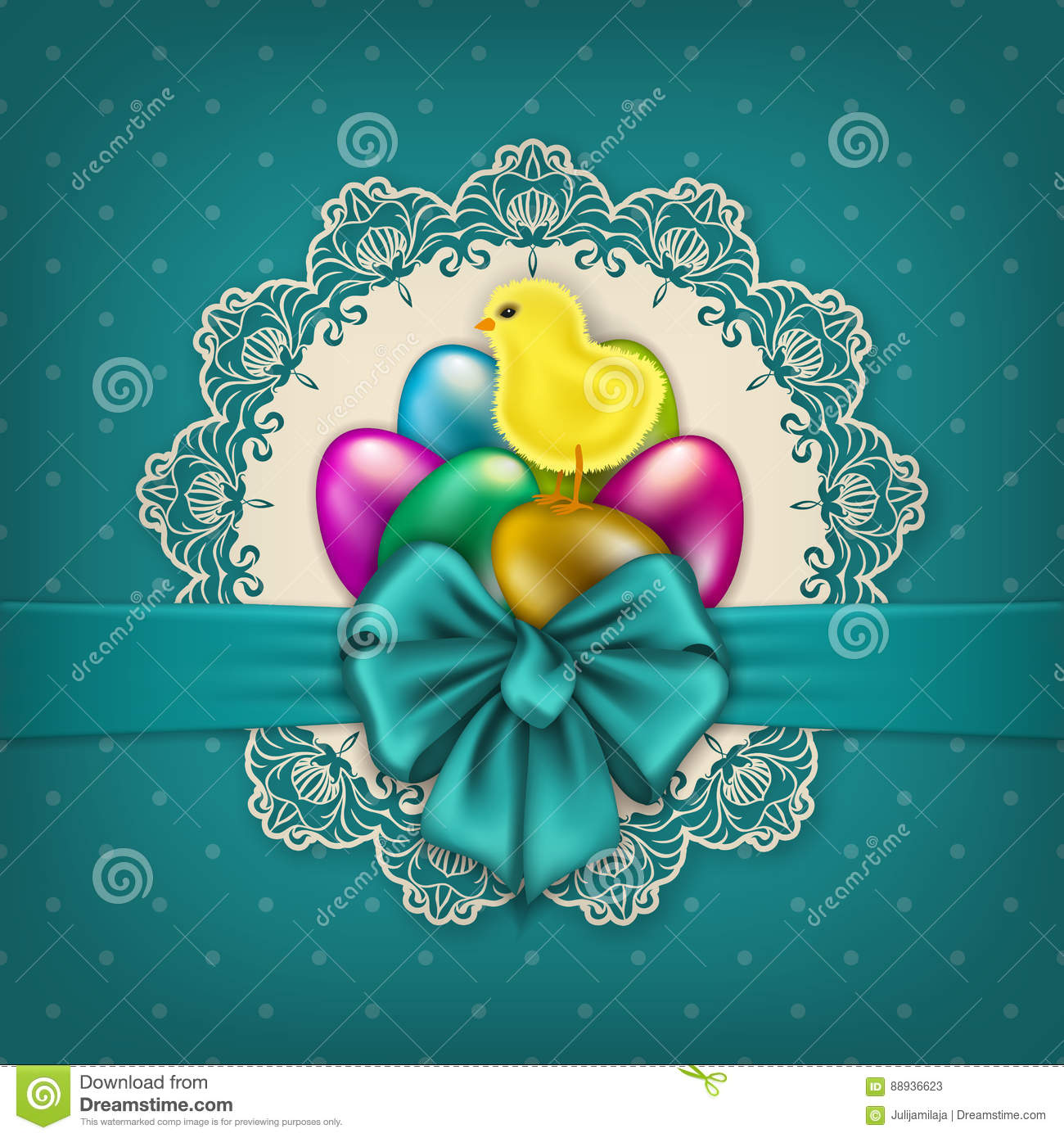 Happy Easter Stock Vector Illustration Of Decor Cover 88936623