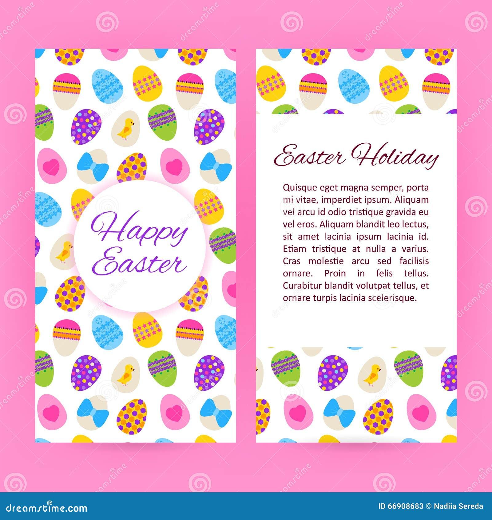 Happy Easter Flyer Brochure Template Vector Image 66908683 – Easter Brochure Template