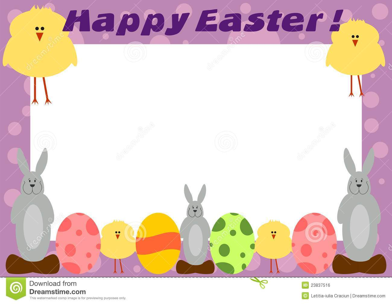 happy easter frame card - Easter Picture Frames