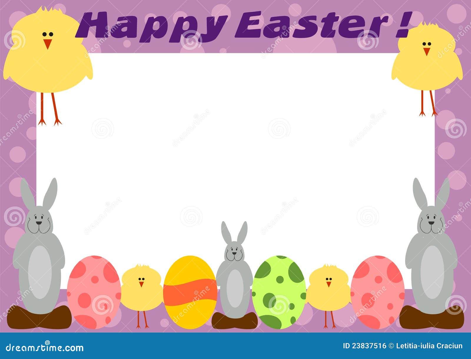 happy easter frame card - Easter Photo Frames
