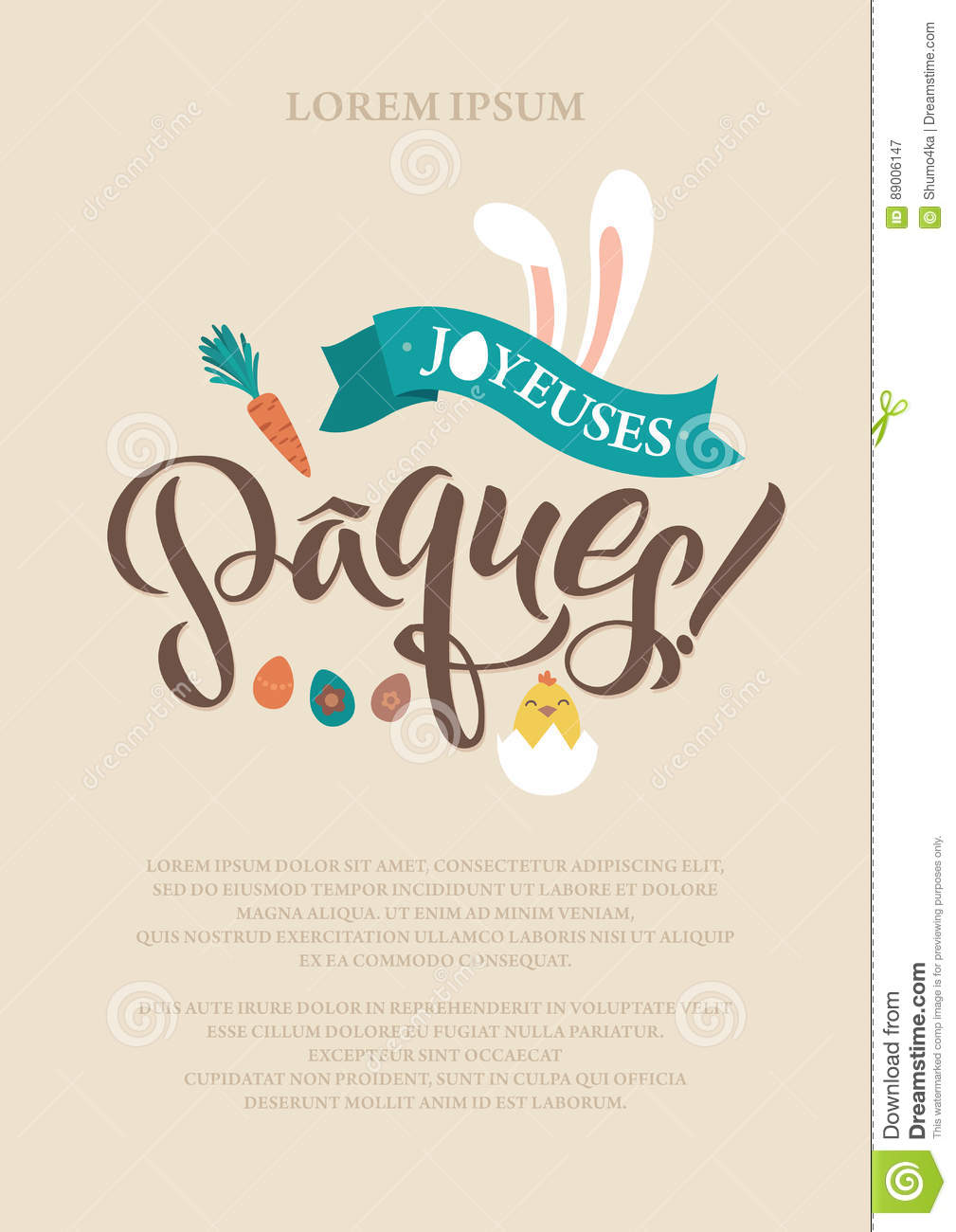 Happy easter french calligraphy greeting card modern brush happy easter french calligraphy greeting card modern brush lettering joyful wishes holiday greetings pastel stock vector illustration of happy m4hsunfo