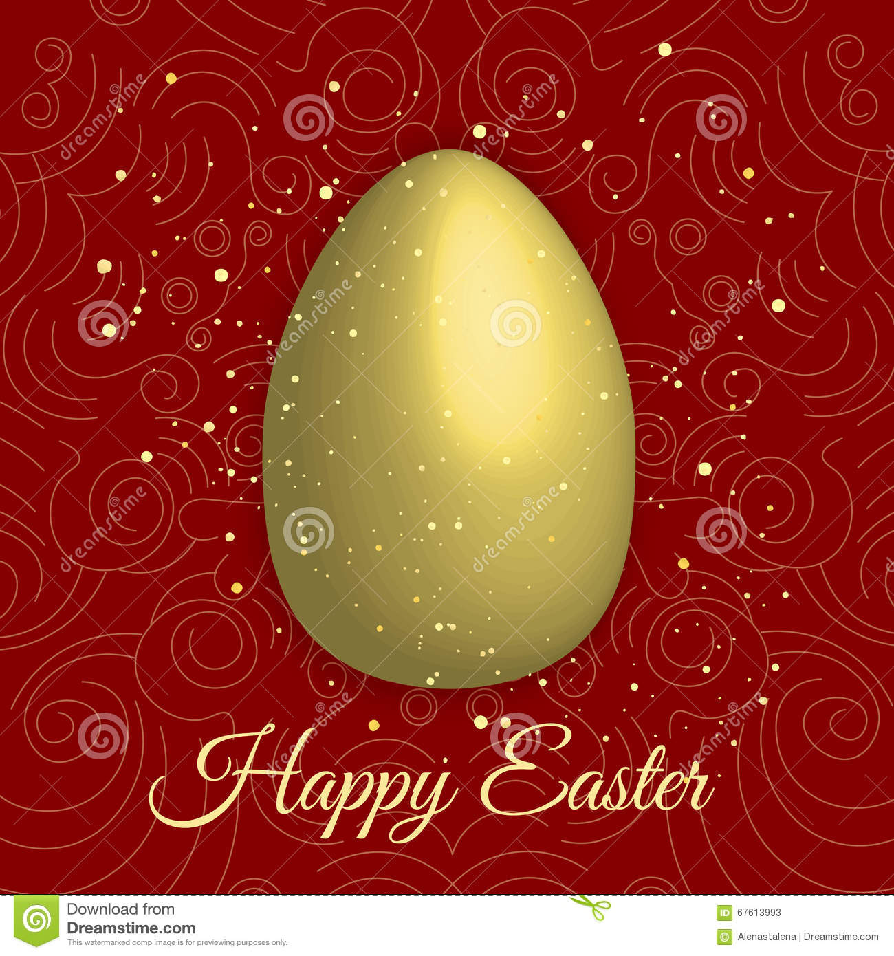 Happy easter with golden egg on red background happy easter vector happy easter with golden egg on red background happy easter vector illustration happy easter greeting card happy kristyandbryce Images