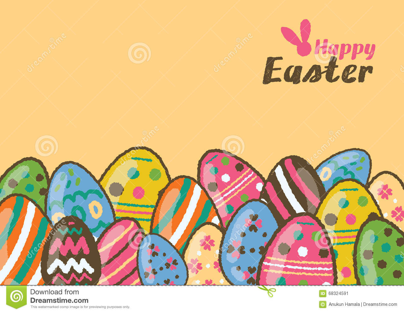 Happy easter greeting card and colorful easter eggs stock vector download happy easter greeting card and colorful easter eggs stock vector illustration of easter m4hsunfo