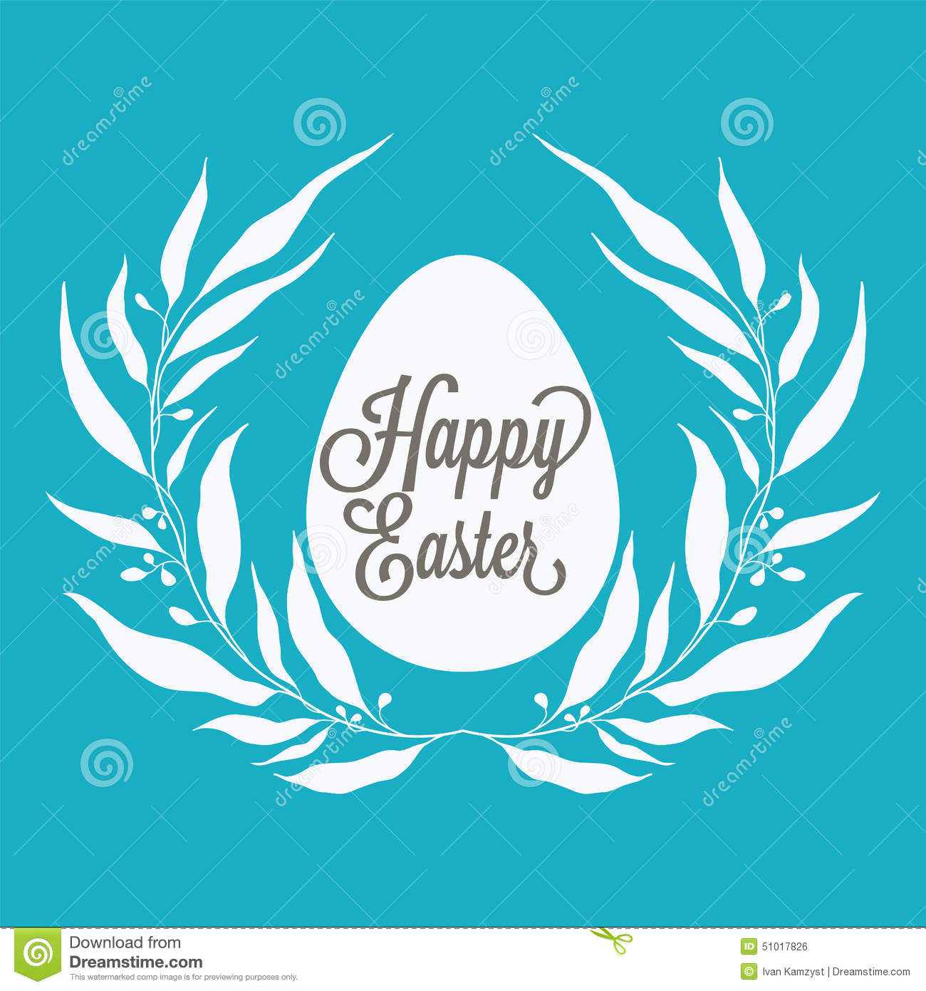 Happy Easter Greeting Card With Floral Decorative Elements Quot