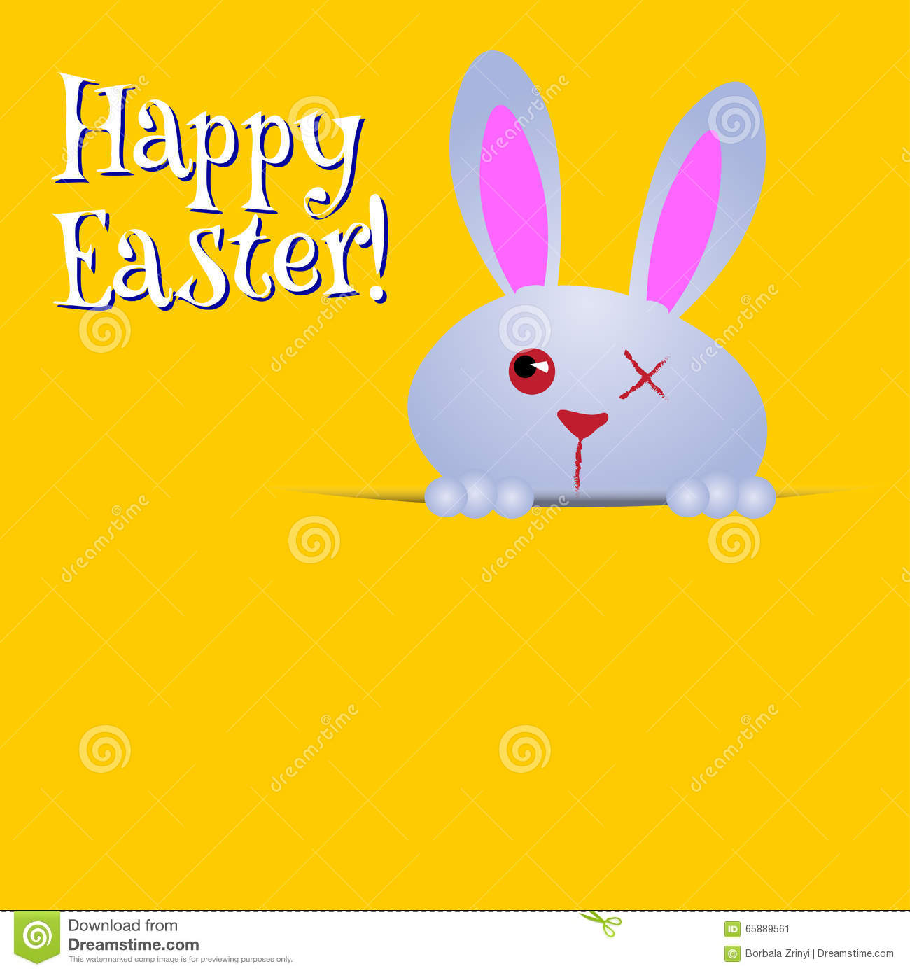 Happy easter greeting card funny bunny stock illustration happy easter greeting card funny bunny concept spring kristyandbryce Choice Image