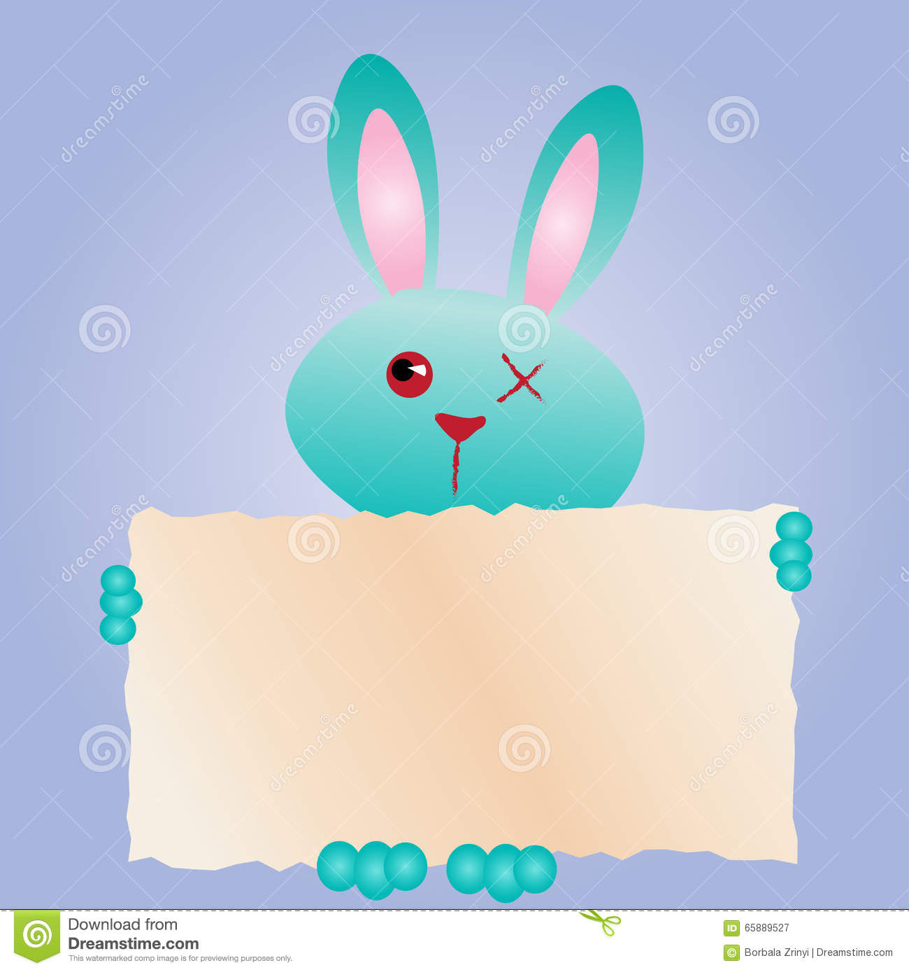 Happy easter greeting card funny bunny rabbit with text box happy easter greeting card funny bunny rabbit with text box kristyandbryce Choice Image