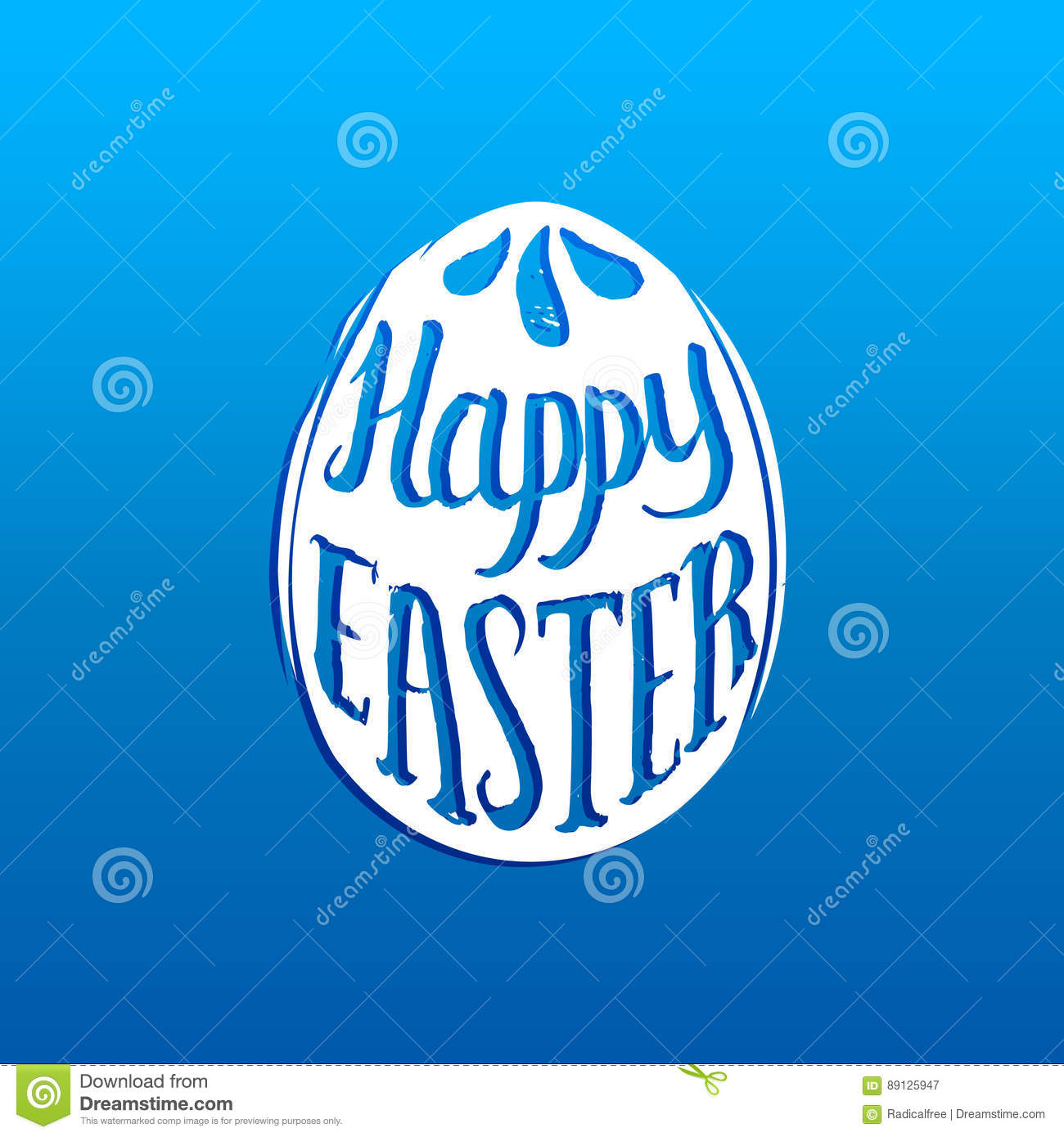 Happy easter greeting card with hand lettering in the egg shape happy easter greeting card with hand lettering in the egg shape religious holiday vector illustration m4hsunfo