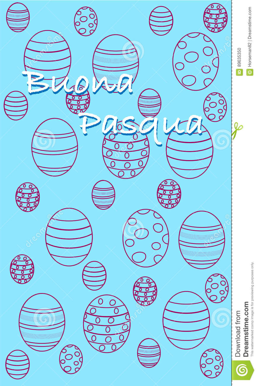 Happy easter greeting card italian version stock illustration download happy easter greeting card italian version stock illustration illustration of holiday buona m4hsunfo