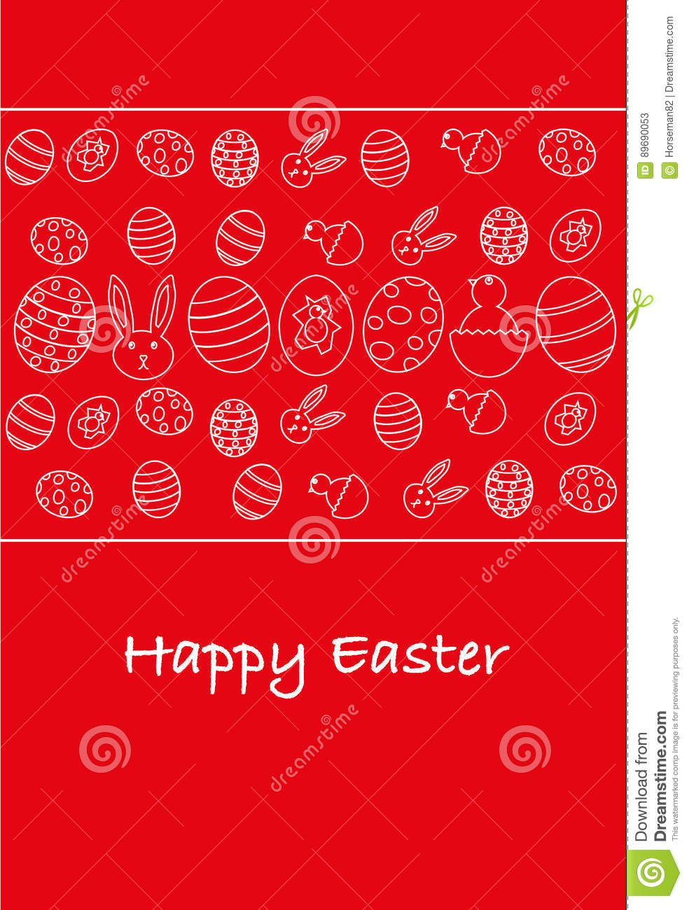 Happy Easter Greeting Card Italian Version Stock Illustration