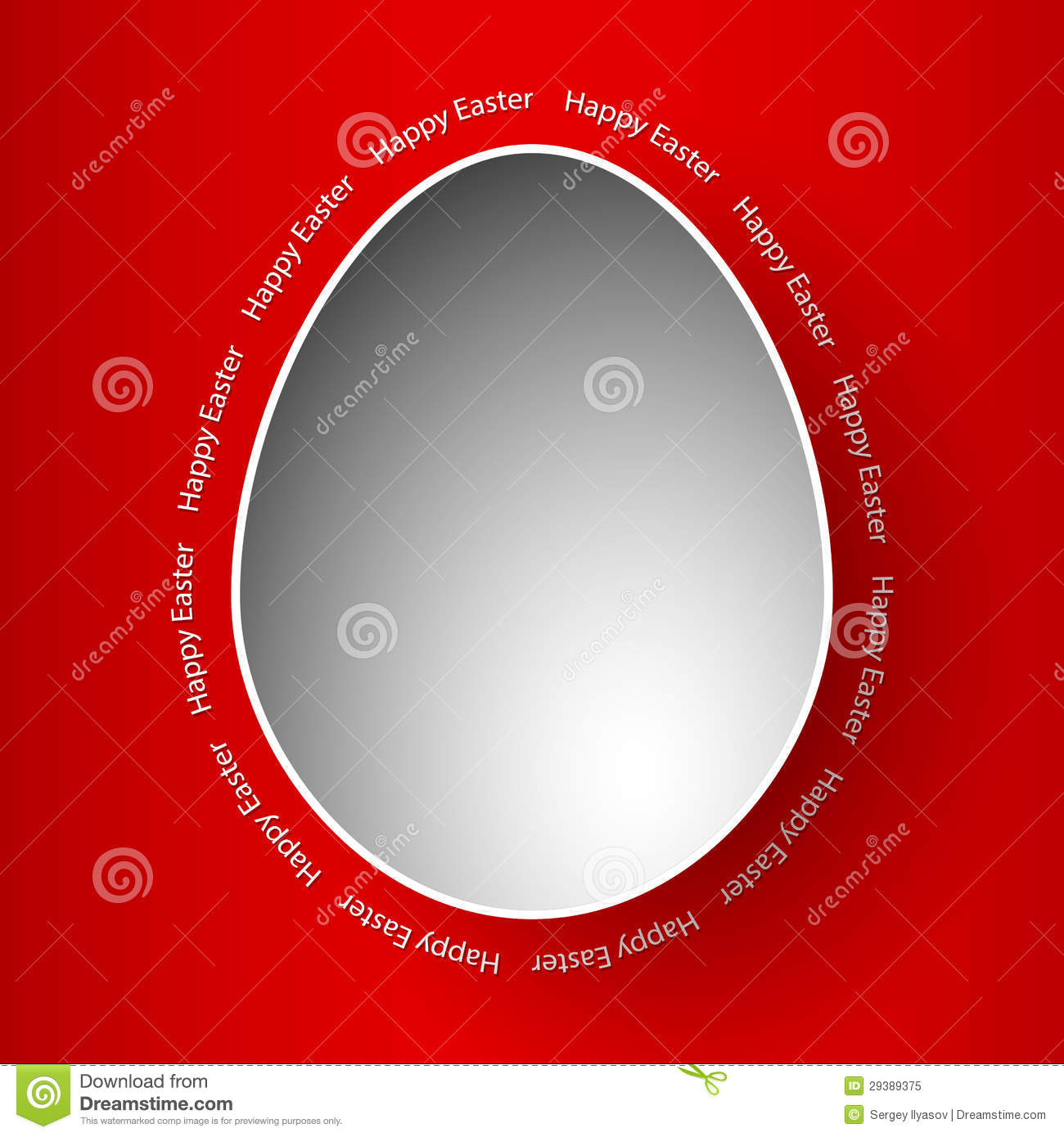 Template Greeting Card Royalty Free Stock Image: Happy Easter Greeting Card Red Template Royalty Free Stock