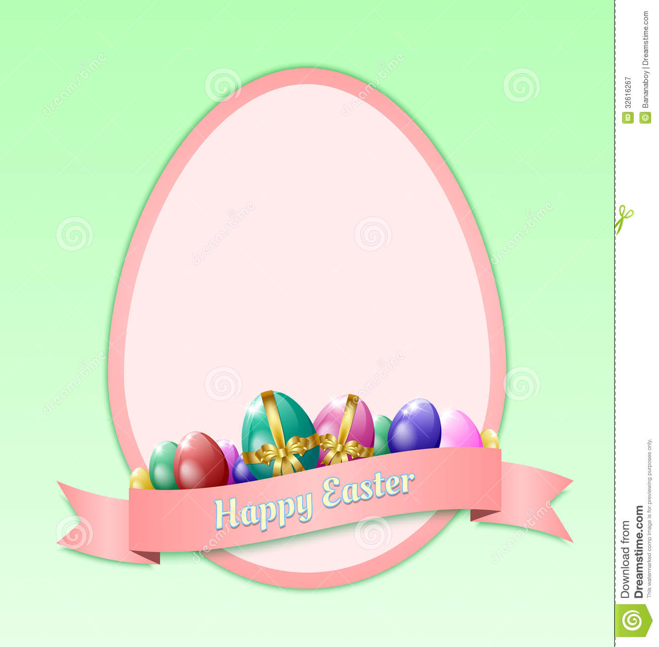 Happy Easter Greeting Card Template Stock Vector Illustration Of