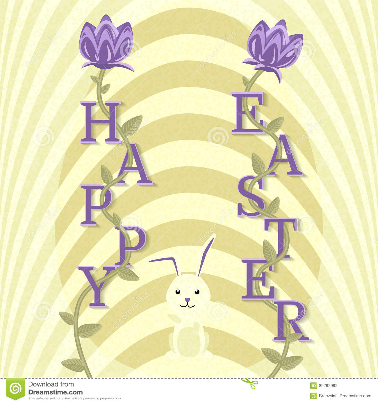 Happy Easter Greeting Card Vector Background Stock Vector