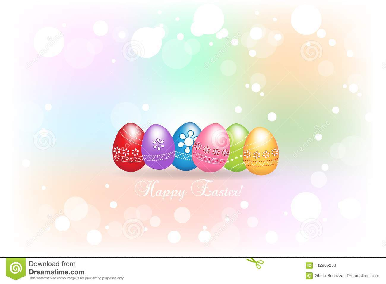 Happy easter greetings card with eggs colorful icon logo background download happy easter greetings card with eggs colorful icon logo background stock vector illustration m4hsunfo