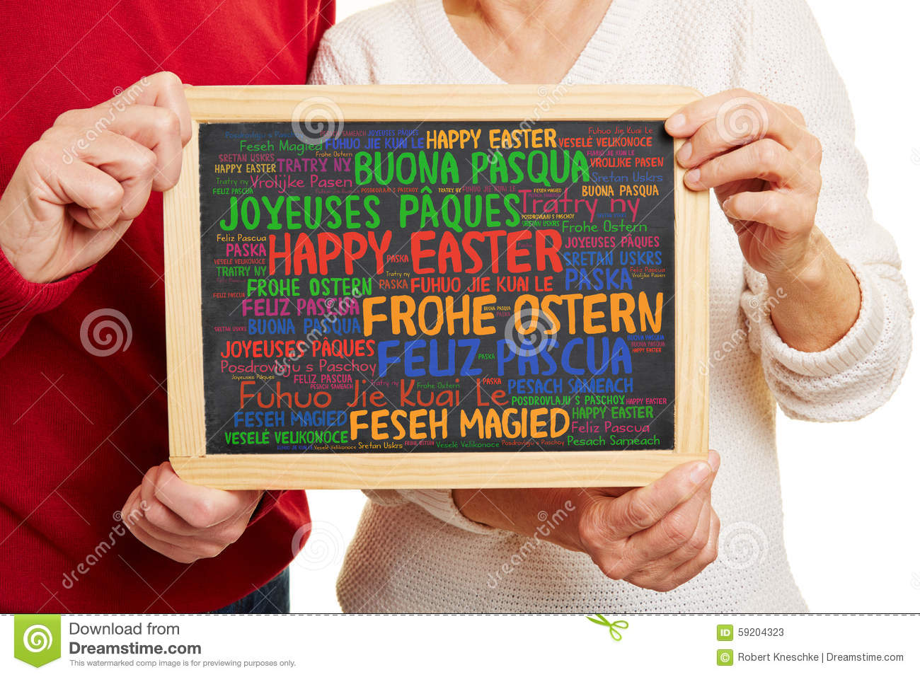Happy Easter Greetings In Many Languages Stock Image Image Of Show