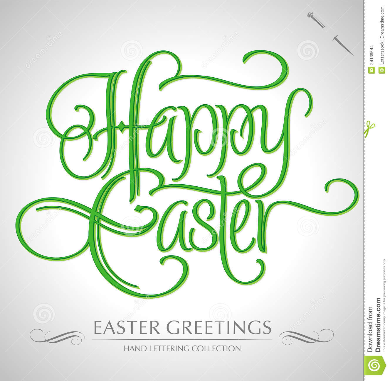Happy easter hand lettering stock images image