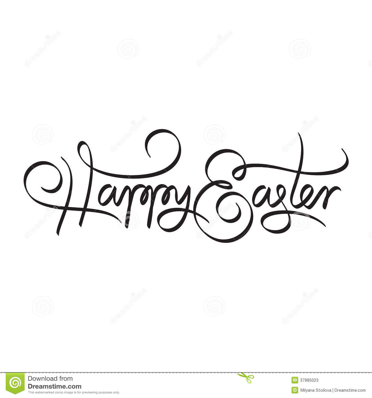 Happy easter hand lettering stock vector image