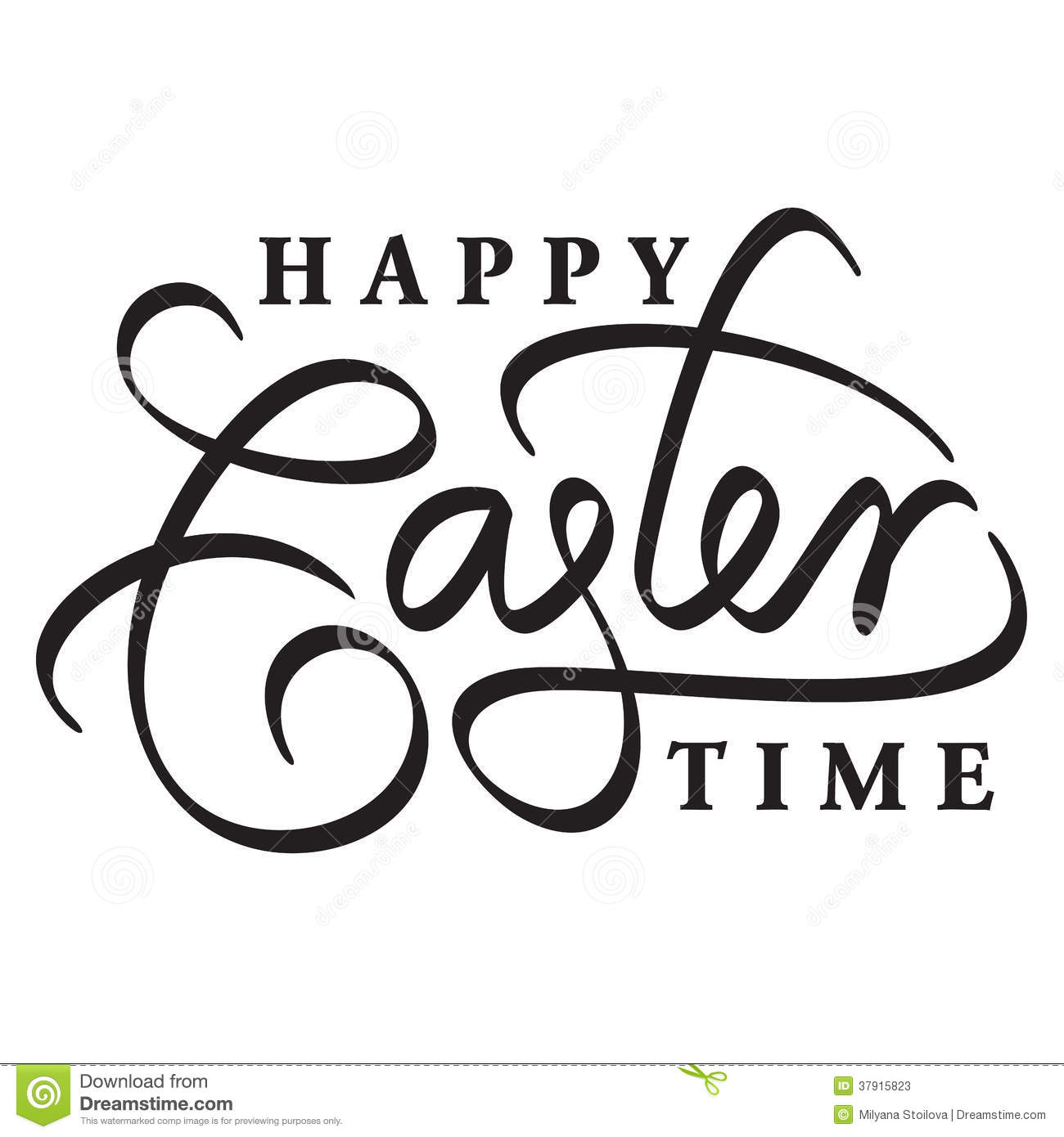 Happy easter hand lettering cartoon vector cartoondealer